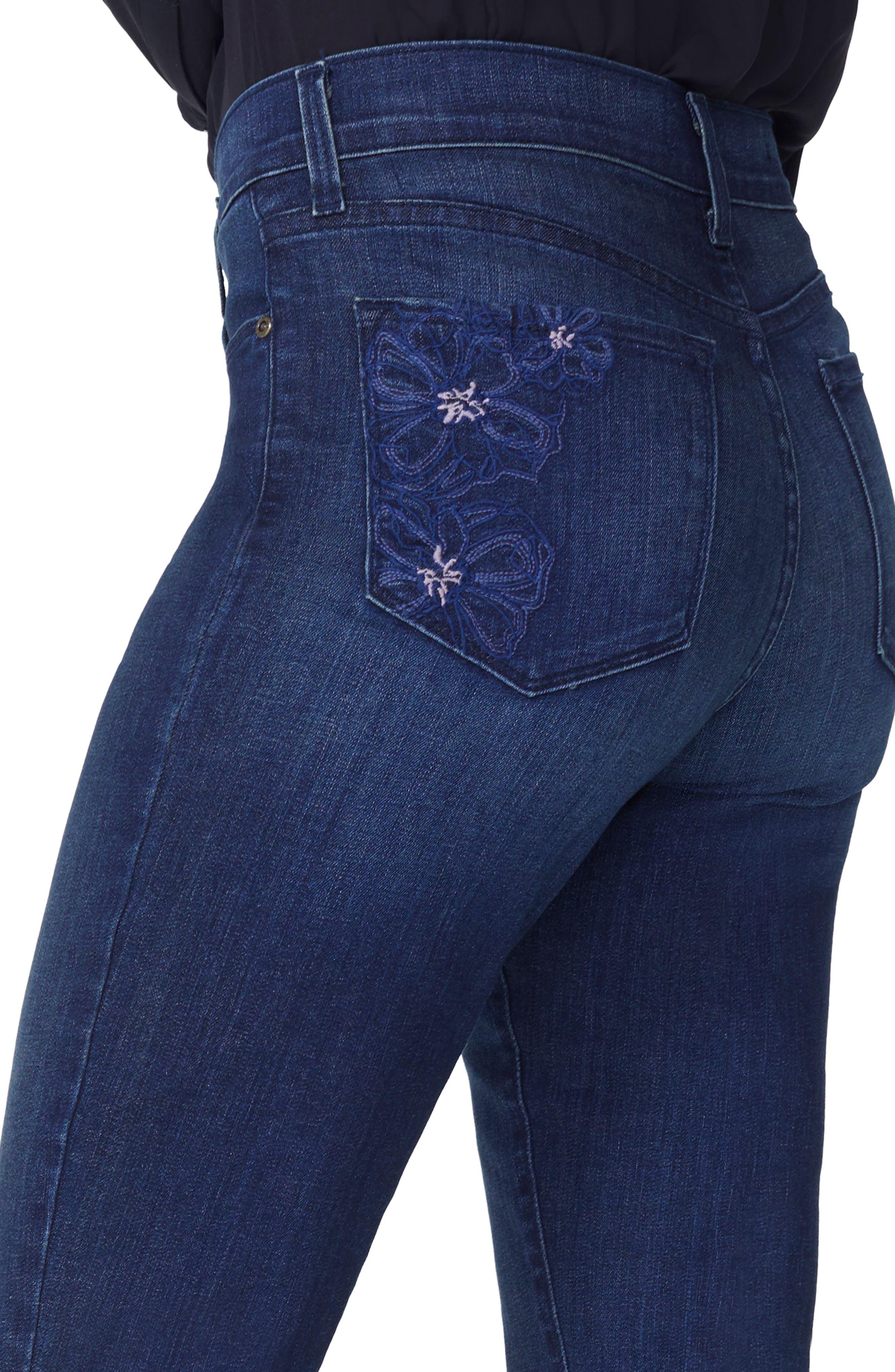 Marilyn Release Hem Crop Straight Leg Jeans,                             Alternate thumbnail 3, color,