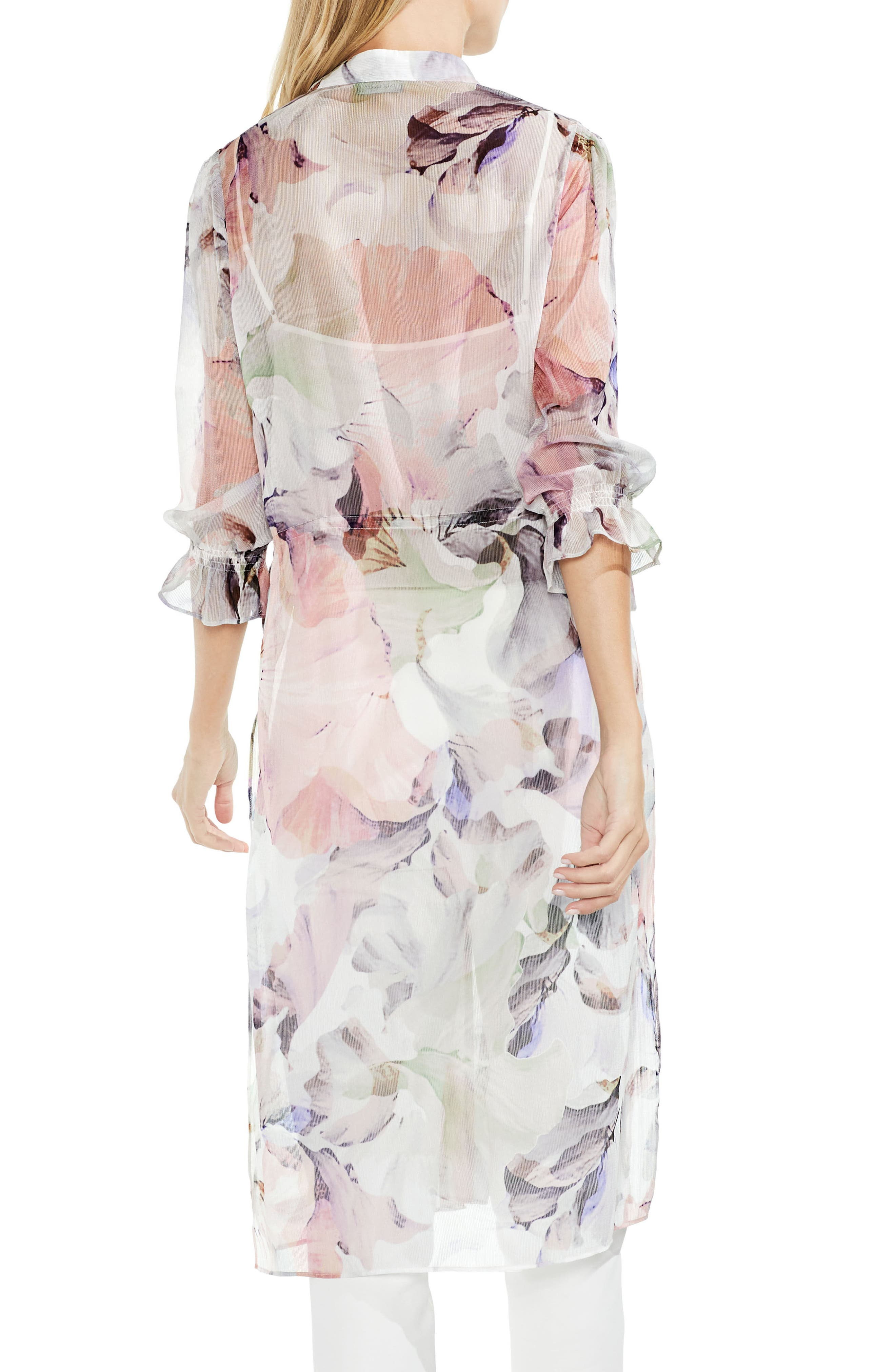 Diffused Bloom Side Tie Tunic,                             Alternate thumbnail 2, color,                             103