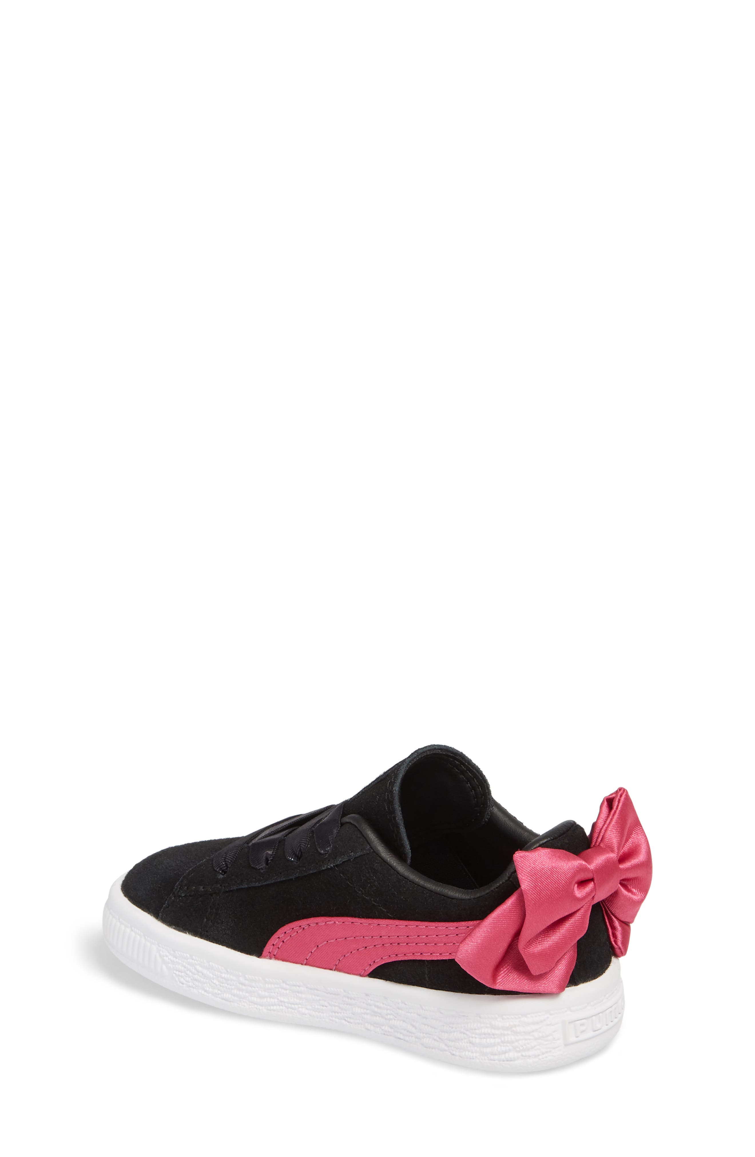 Bow Sneaker,                             Alternate thumbnail 2, color,                             BLACK/ BEETROOT PURPLE