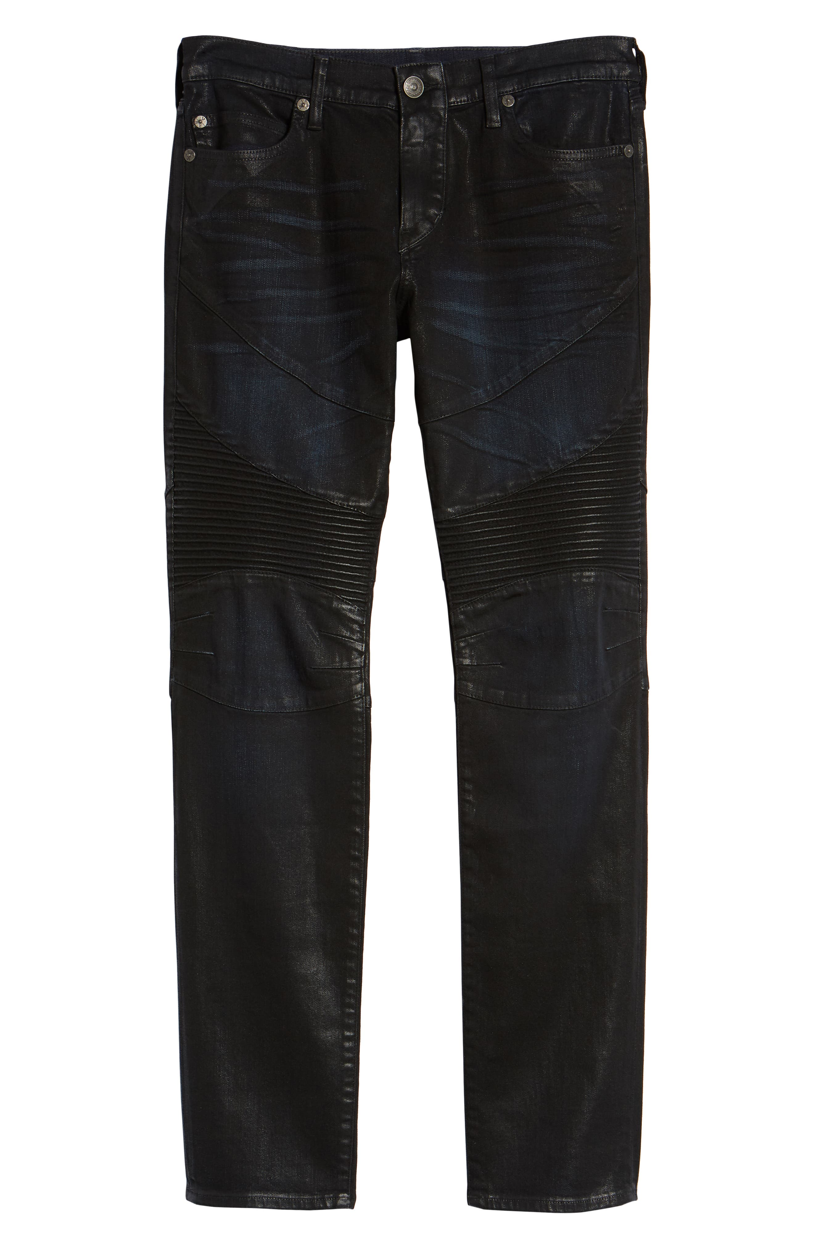 Rocco Skinny Fit Moto Jeans,                             Alternate thumbnail 6, color,                             FLGD BOOST BLUE