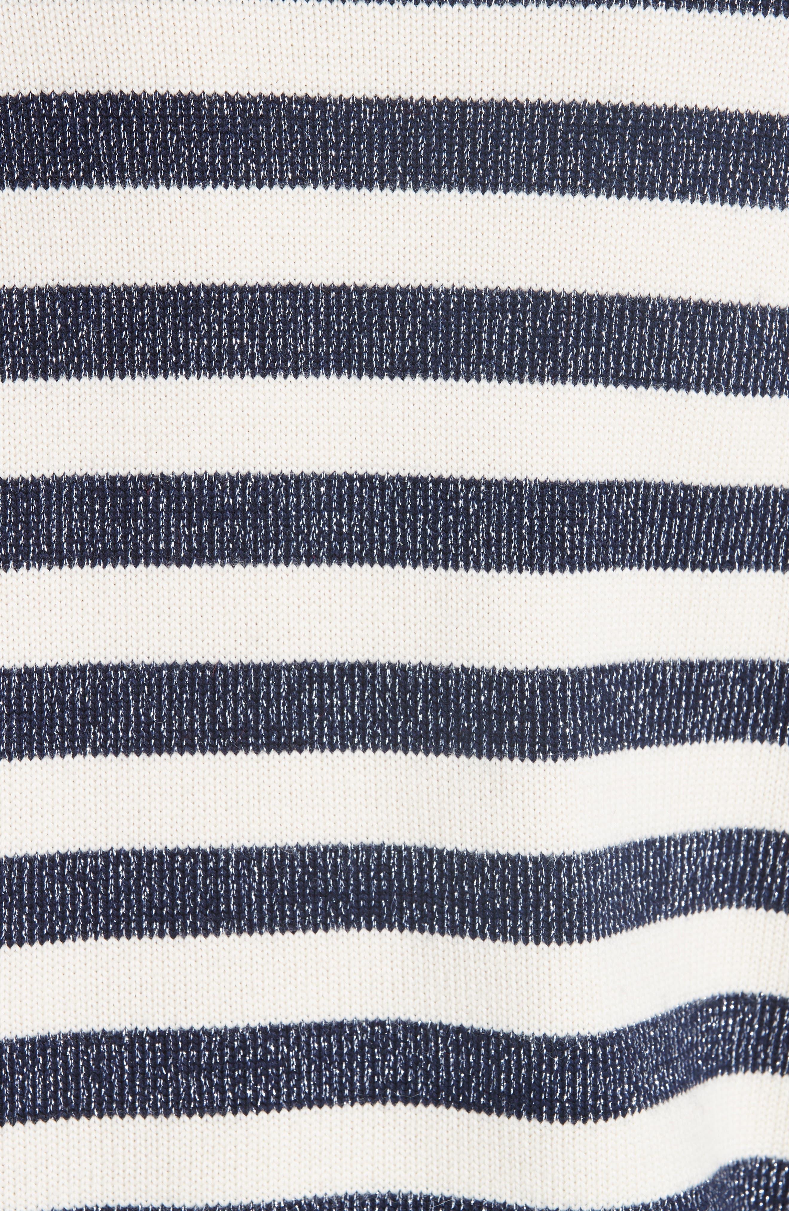 Sunday Stripe Wool Blend Sweater,                             Alternate thumbnail 5, color,                             WHITE