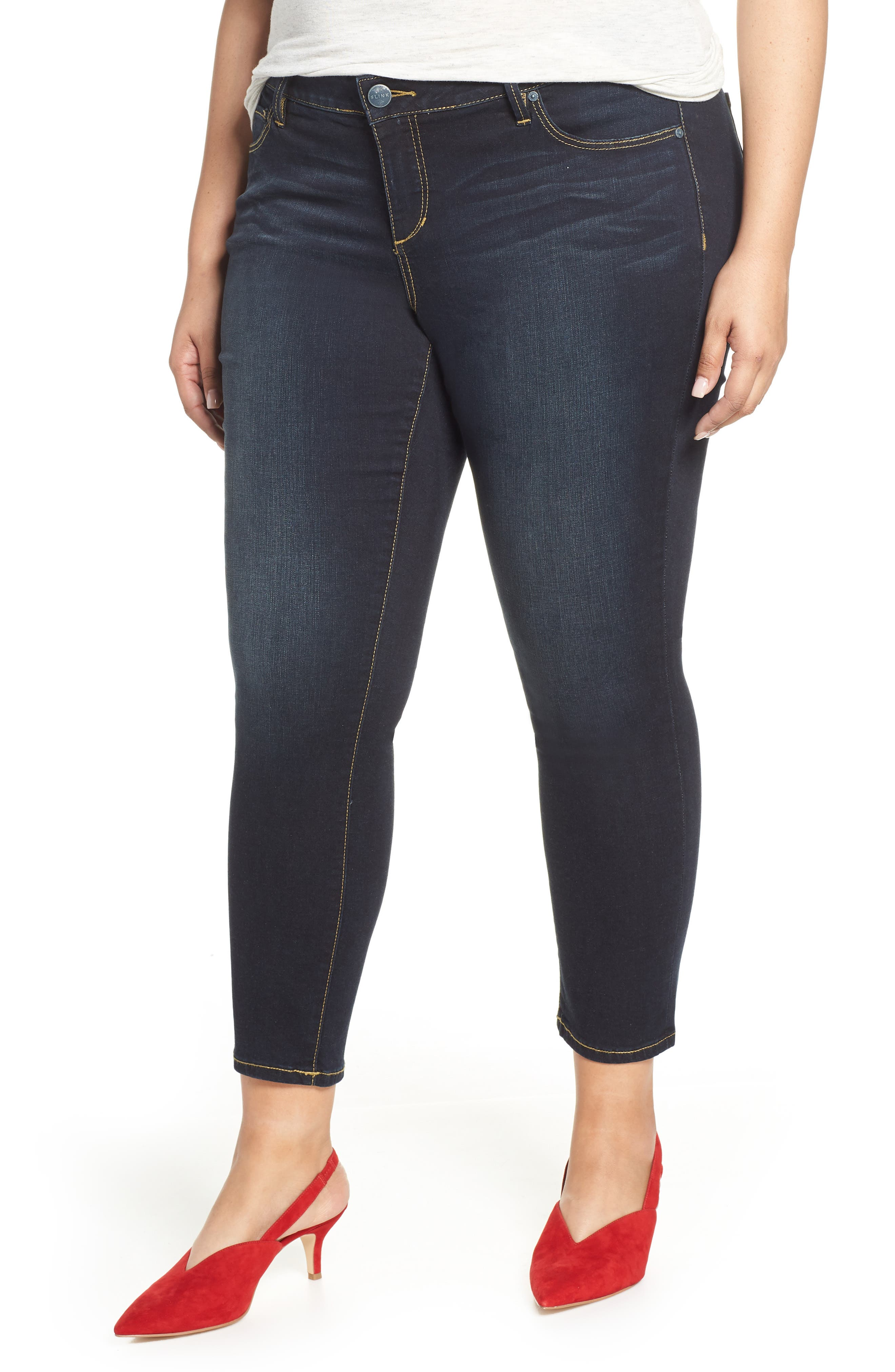 Stretch Ankle Skinny Jeans,                         Main,                         color, SUMMER