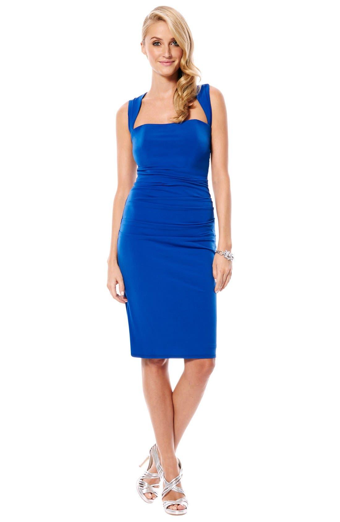 Twist Back Jersey Body-Con Dress,                             Alternate thumbnail 16, color,