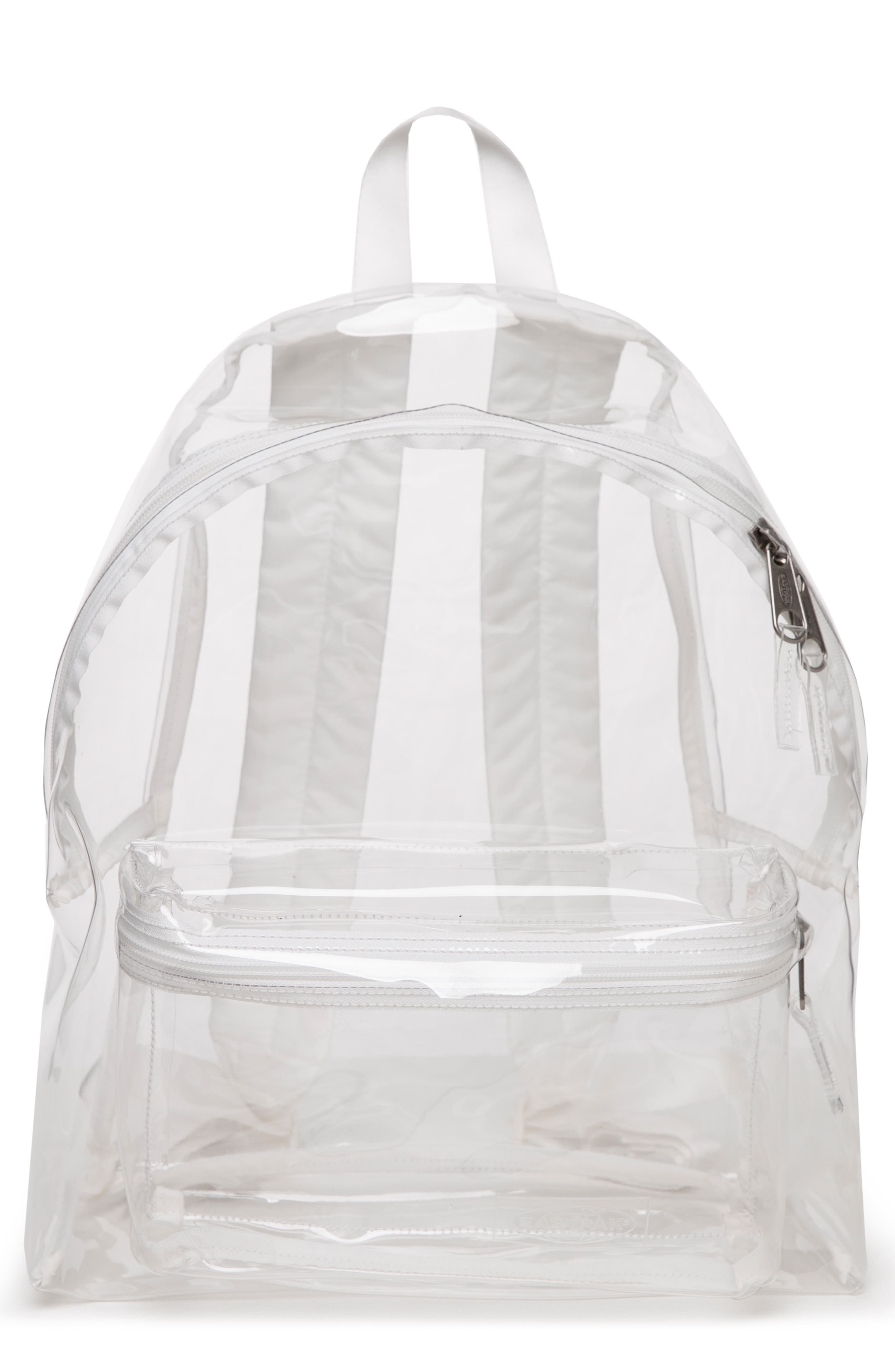Transparent Padded Pak'r<sup>®</sup> Backpack,                         Main,                         color, GLASS