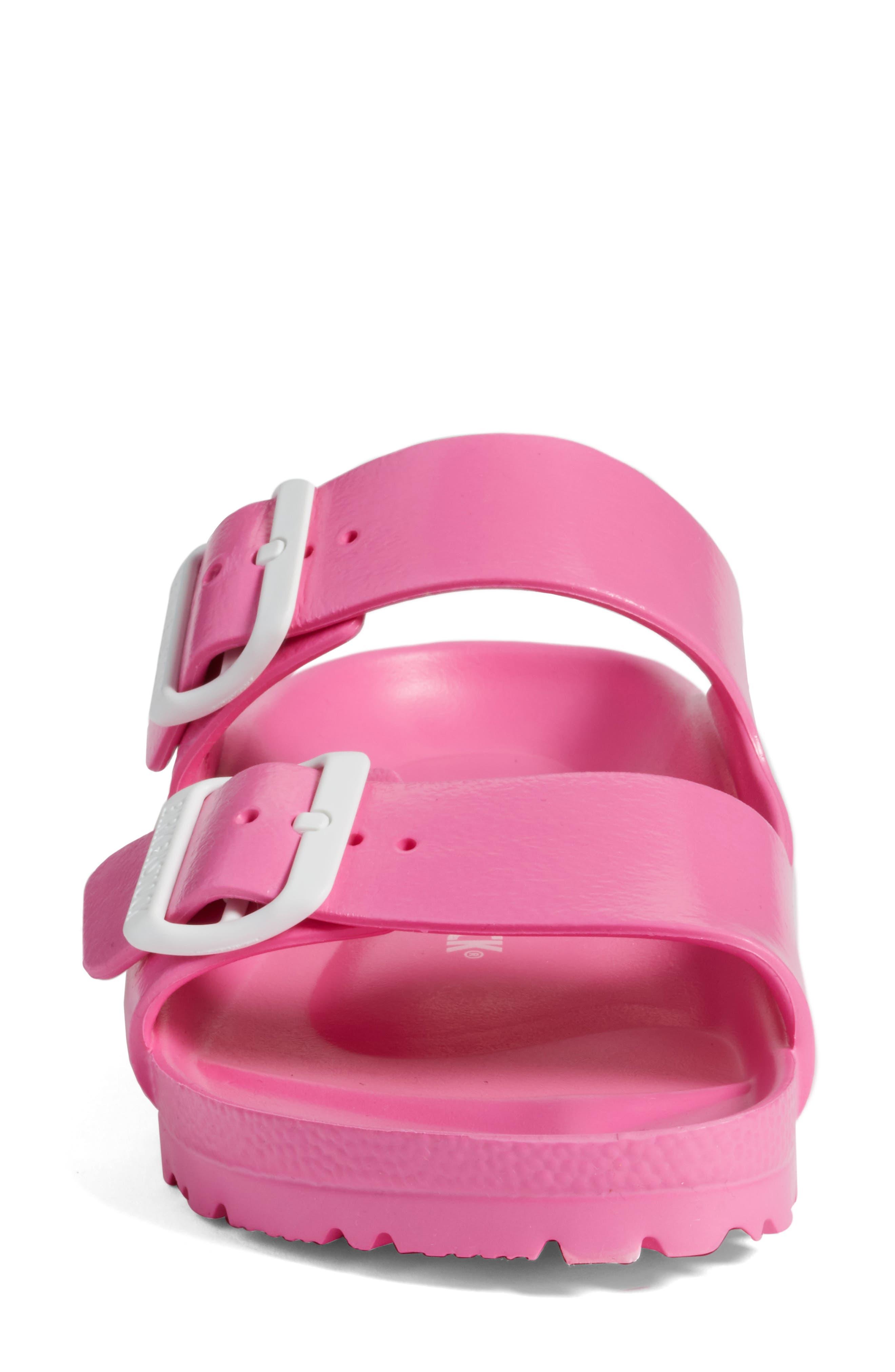 Essentials - Arizona Slide Sandal,                             Alternate thumbnail 4, color,                             PINK EVA