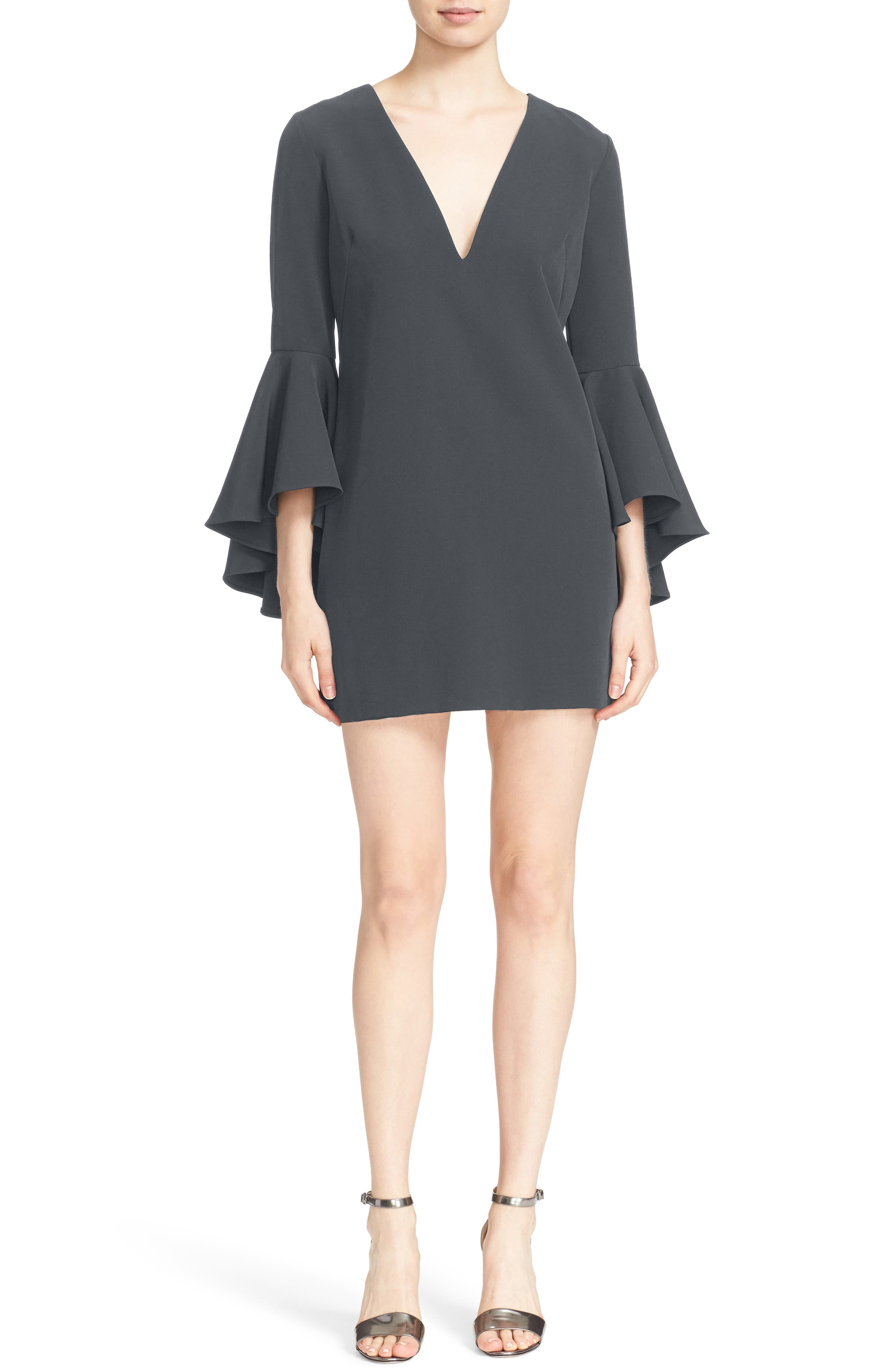 Nicole Bell Sleeve Dress,                             Main thumbnail 4, color,
