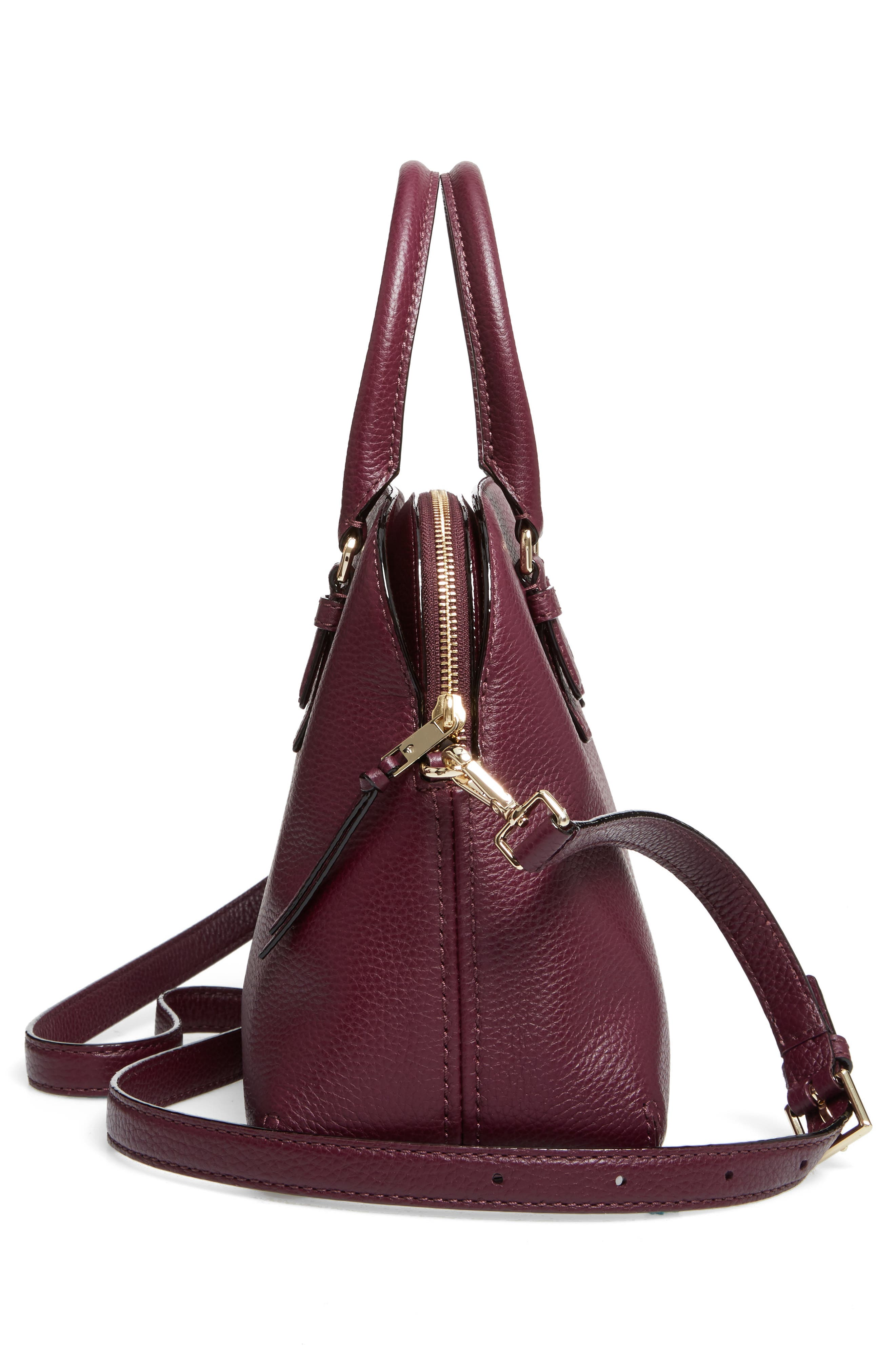 jackson street lottie leather satchel,                             Alternate thumbnail 15, color,