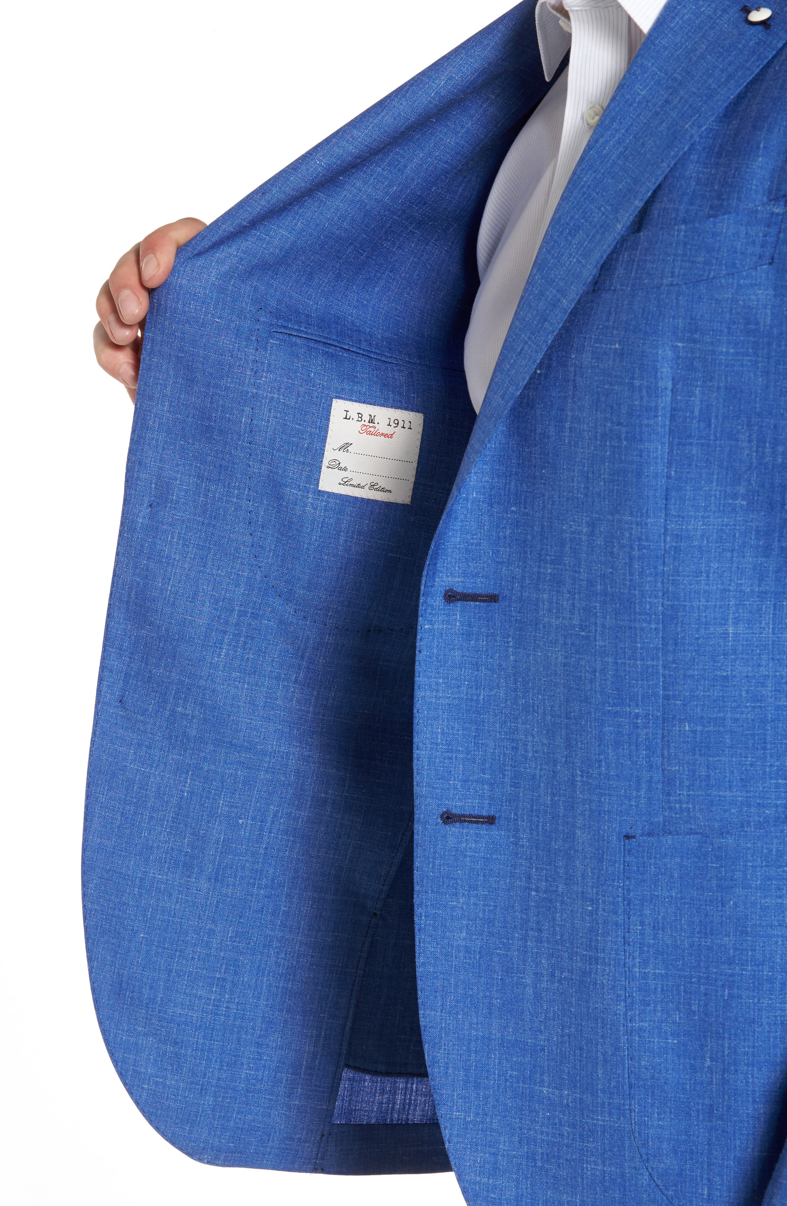 Classic Fit Wool Blend Blazer,                             Alternate thumbnail 4, color,                             410