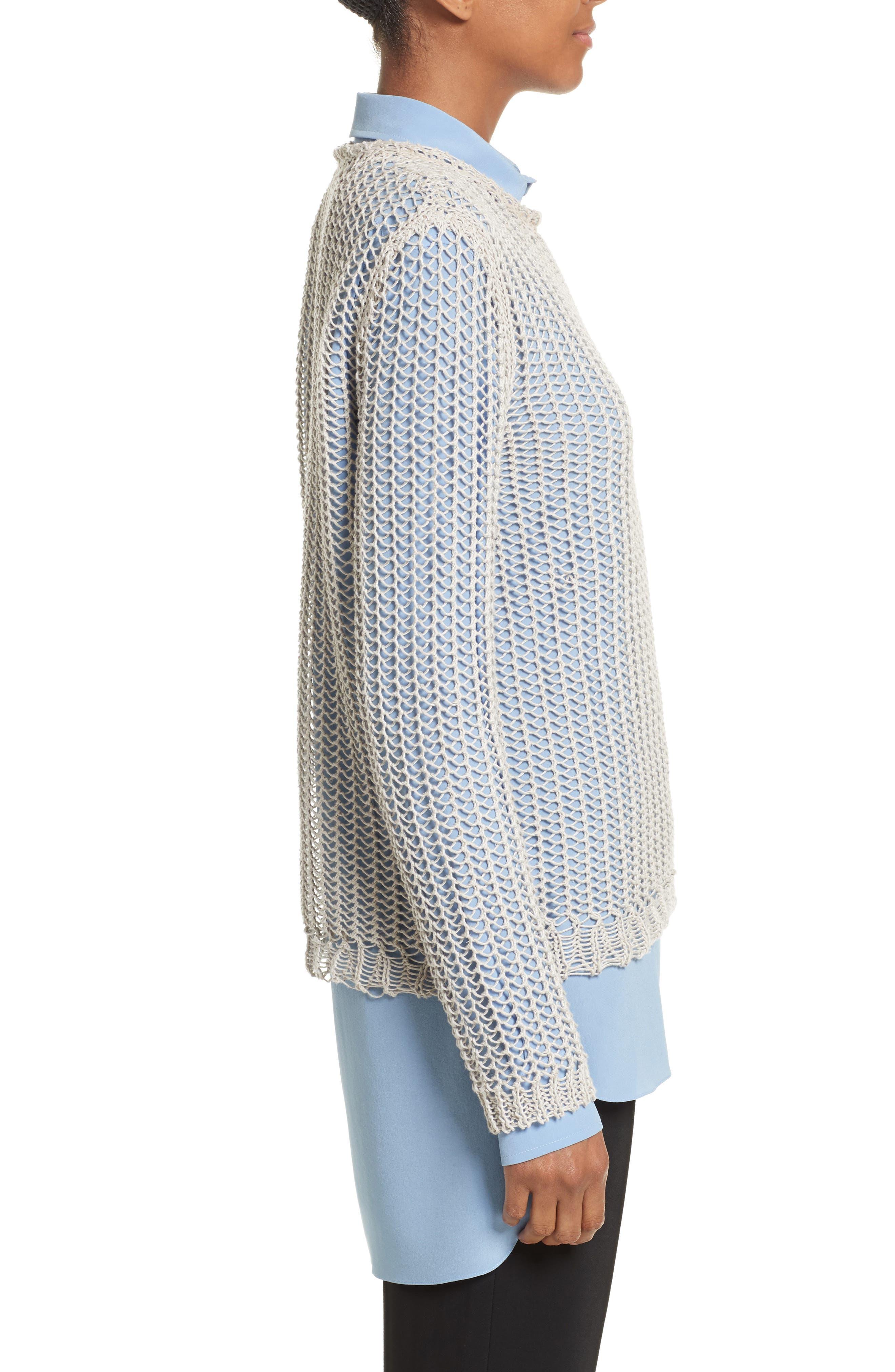 Fishnet Sweater,                             Alternate thumbnail 3, color,                             040