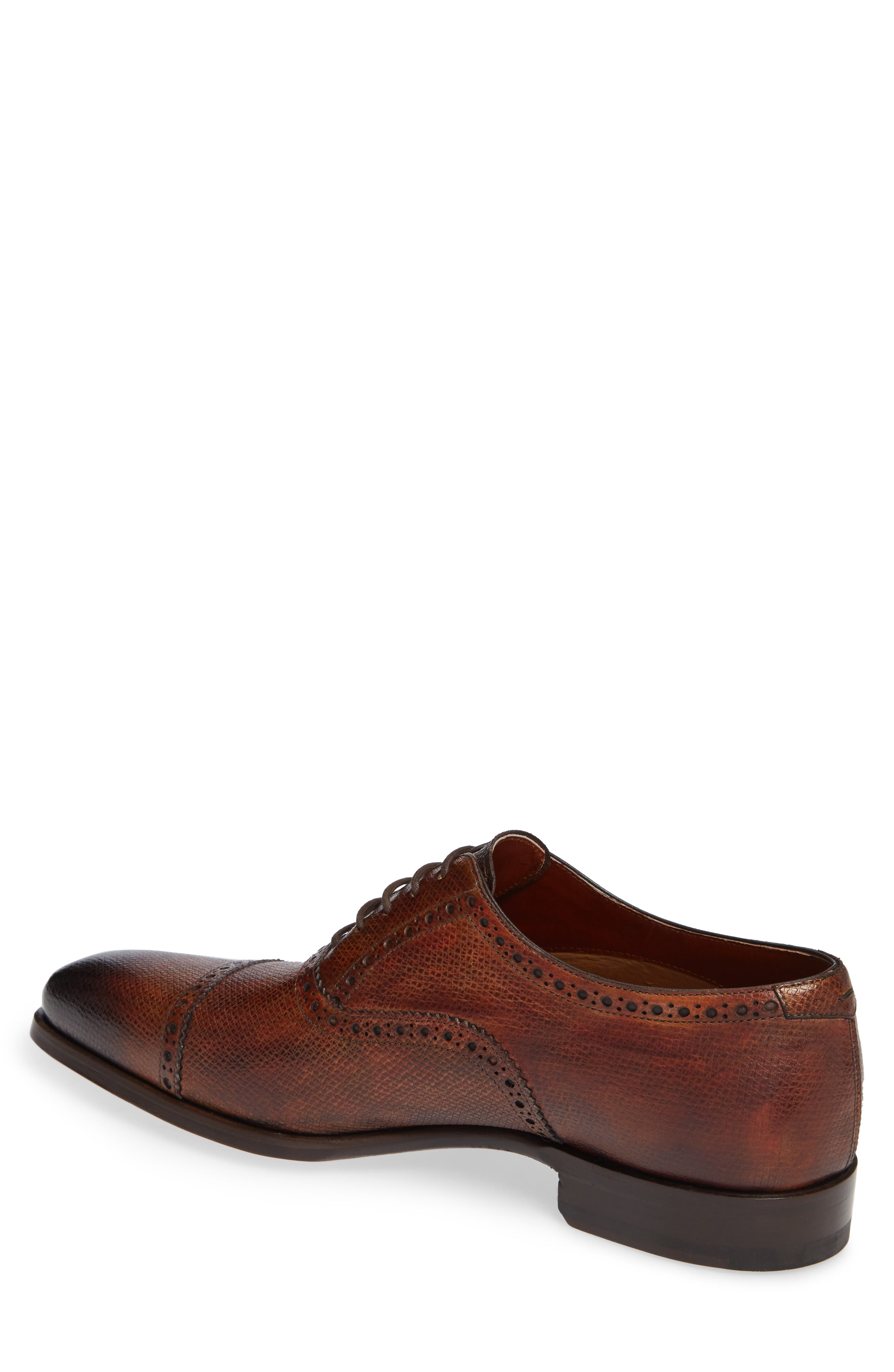 Charlton Cap Toe Oxford,                             Alternate thumbnail 2, color,                             MID BROWN LEATHER