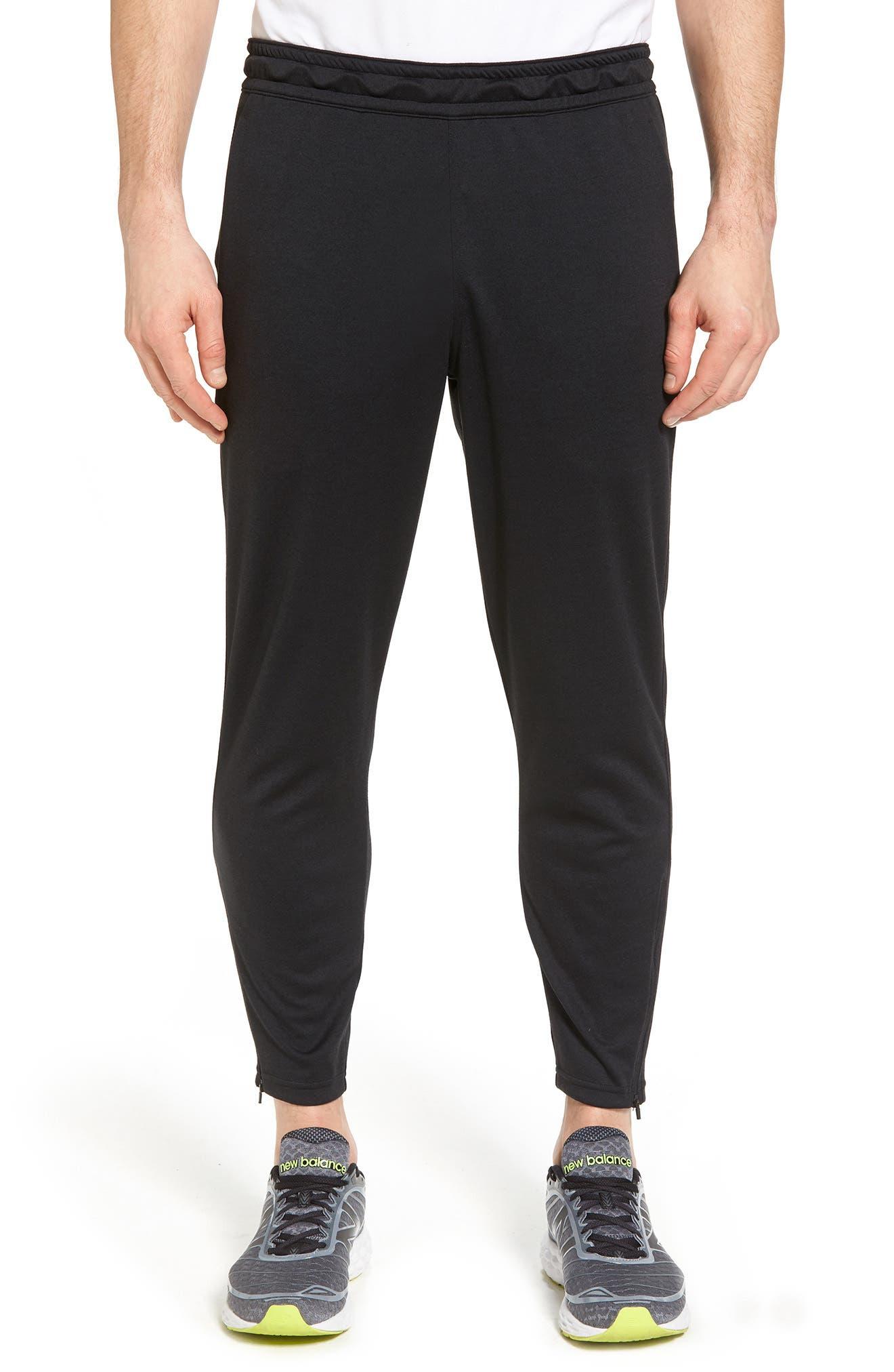 Cropped Jogger Pants,                             Main thumbnail 1, color,                             BLACK