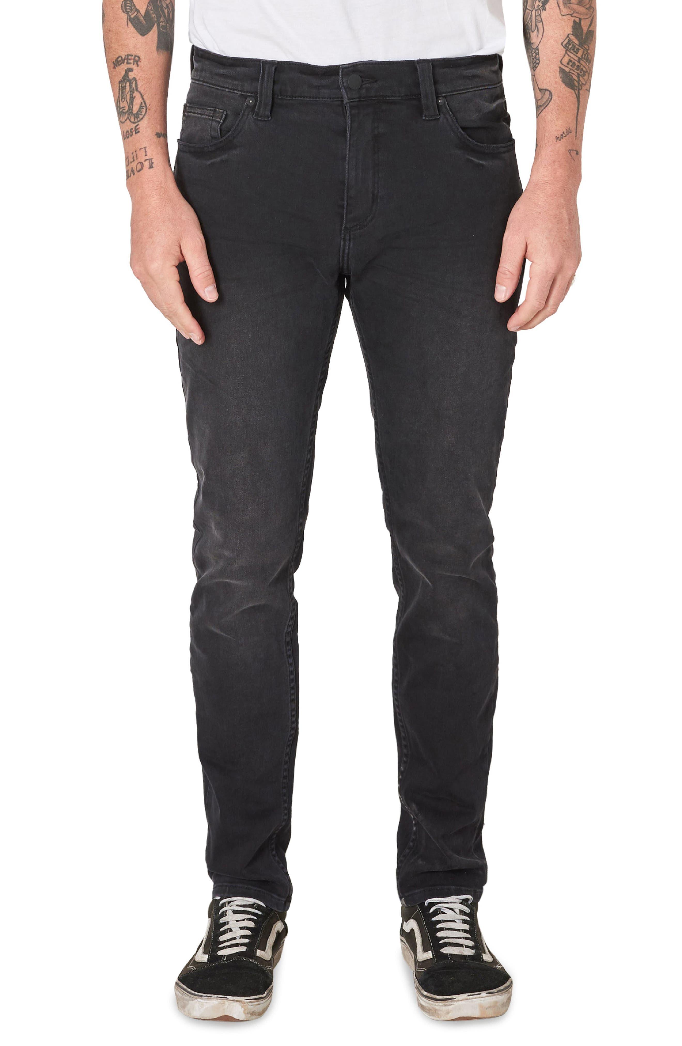 Stinger Skinny Fit Jeans,                         Main,                         color, BLACK CAT