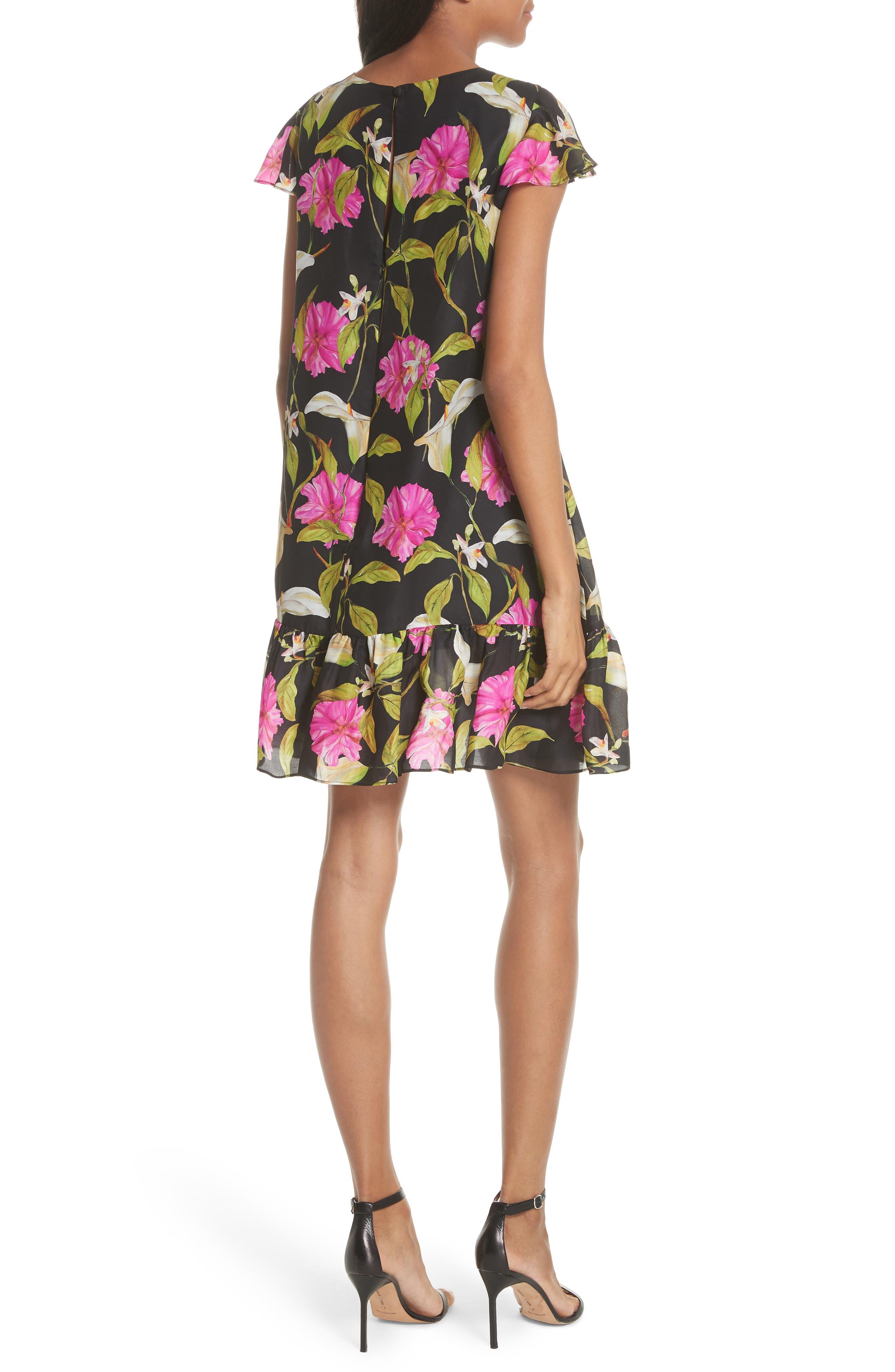 Jill Large Calla Lily Shift Dress,                             Alternate thumbnail 2, color,                             004