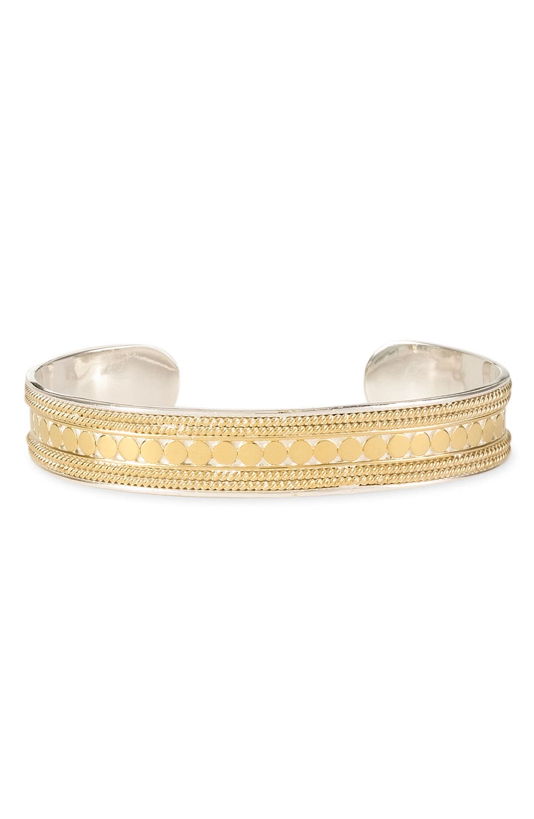 'Gili' Skinny Cuff Bracelet,                         Main,                         color, GOLD / SILVER