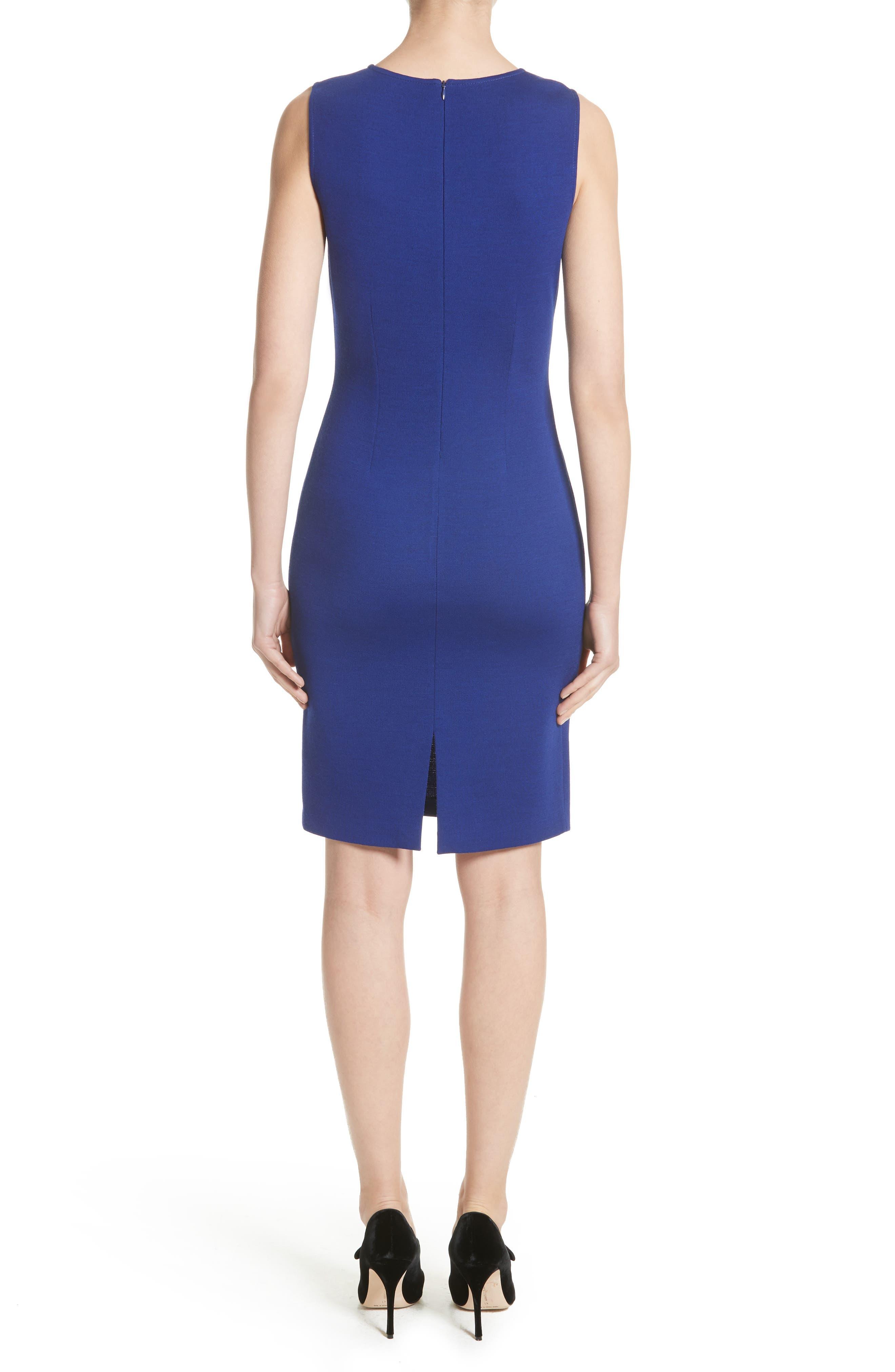 Milano Knit Sheath Dress,                             Alternate thumbnail 2, color,                             430