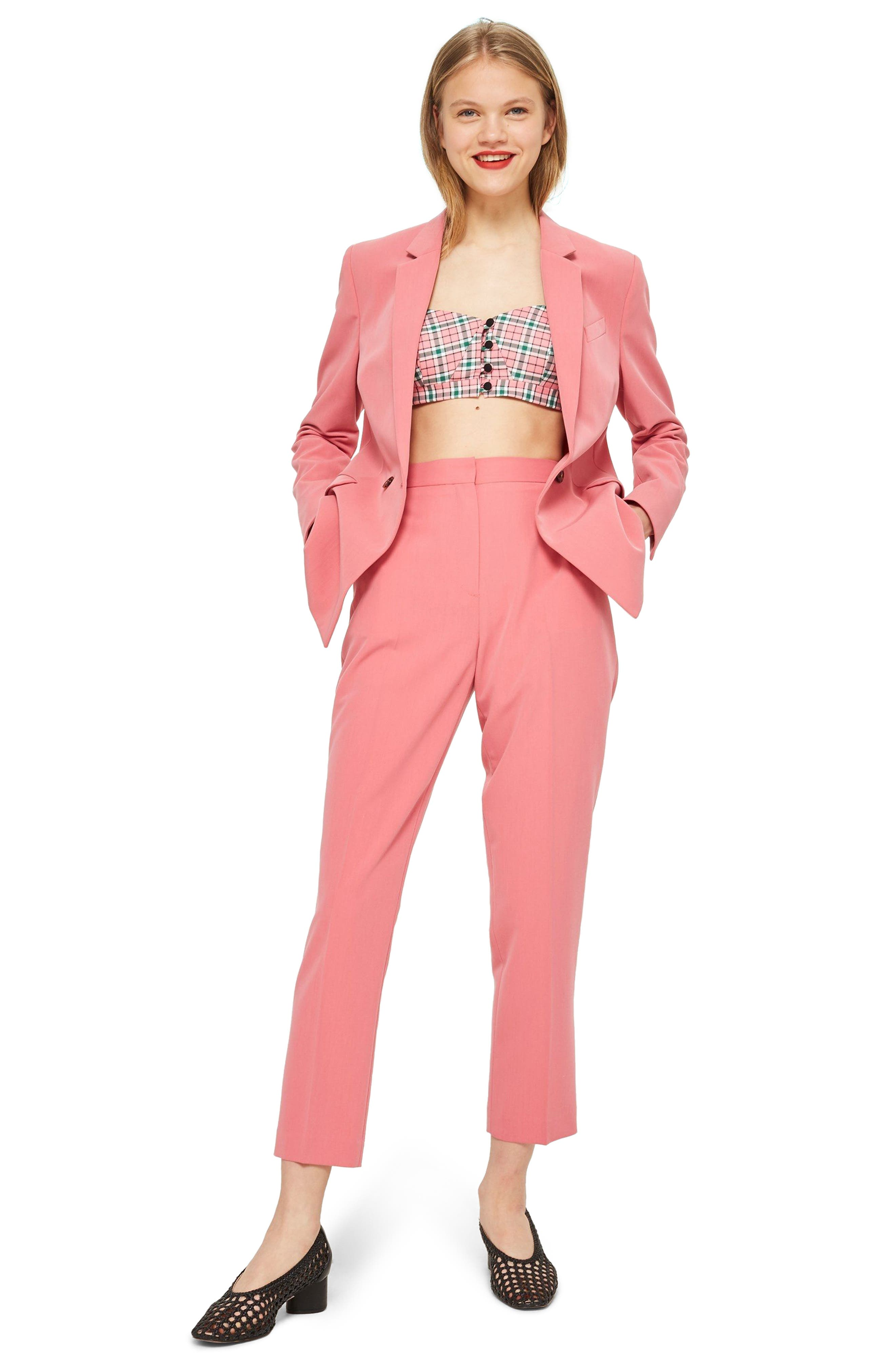 Longline Double Breasted Button Suit Jacket,                             Alternate thumbnail 4, color,                             650