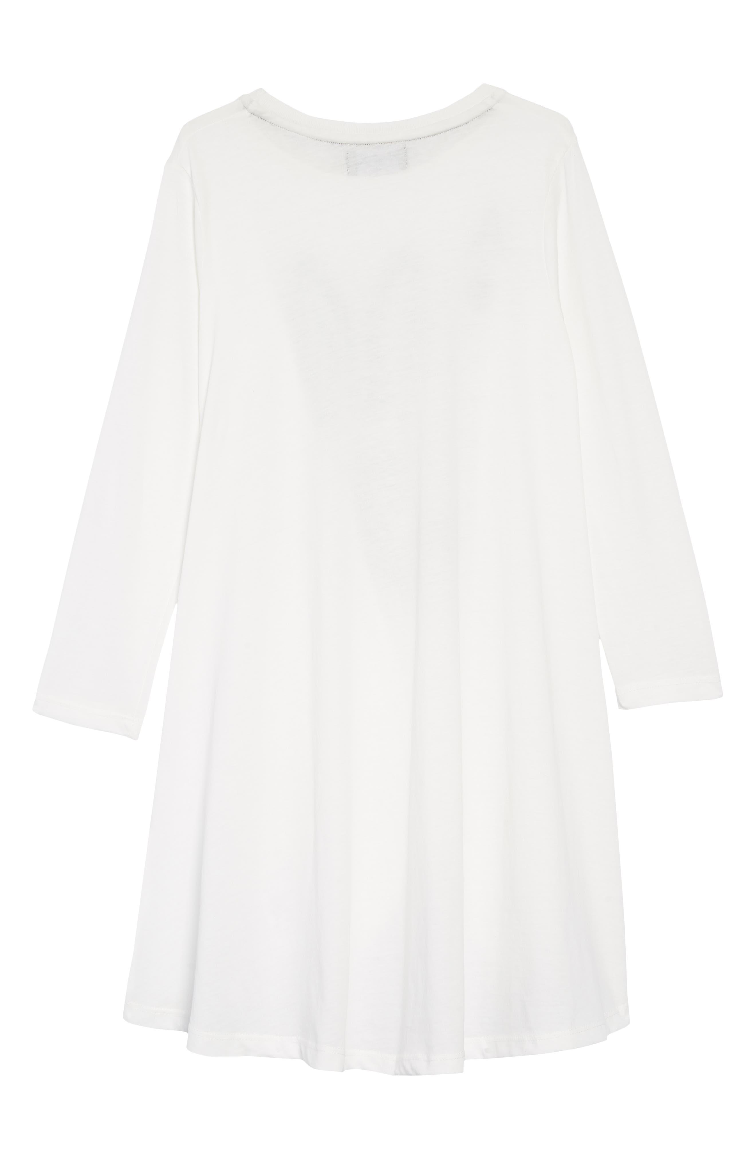 Skull Bunny Ace Twirling Dress,                             Alternate thumbnail 2, color,                             WHITE