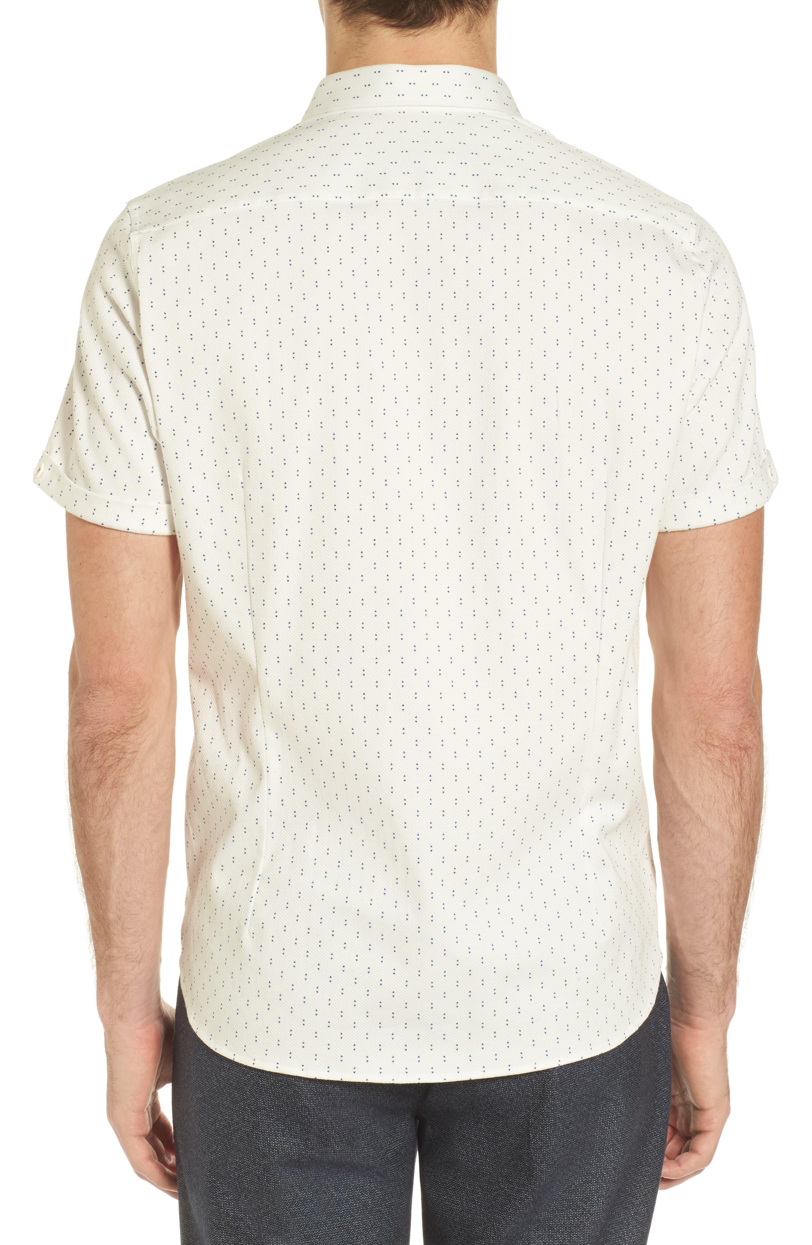 TED BAKER LONDON,                             Franko Print Sport Shirt,                             Alternate thumbnail 2, color,                             100