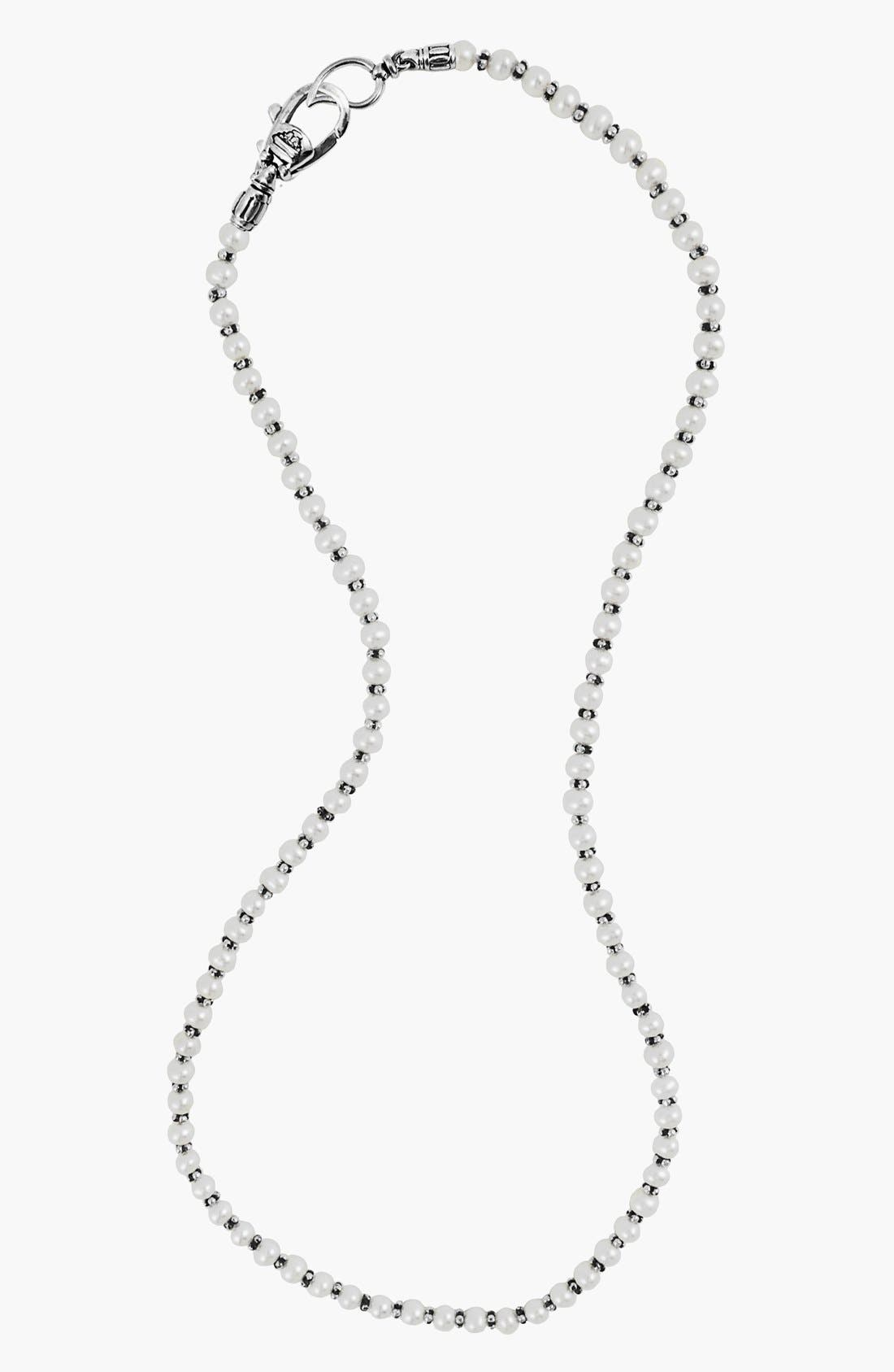 LAGOS,                             Luna Pearl Necklace,                             Alternate thumbnail 3, color,                             SILVER/ PEARL