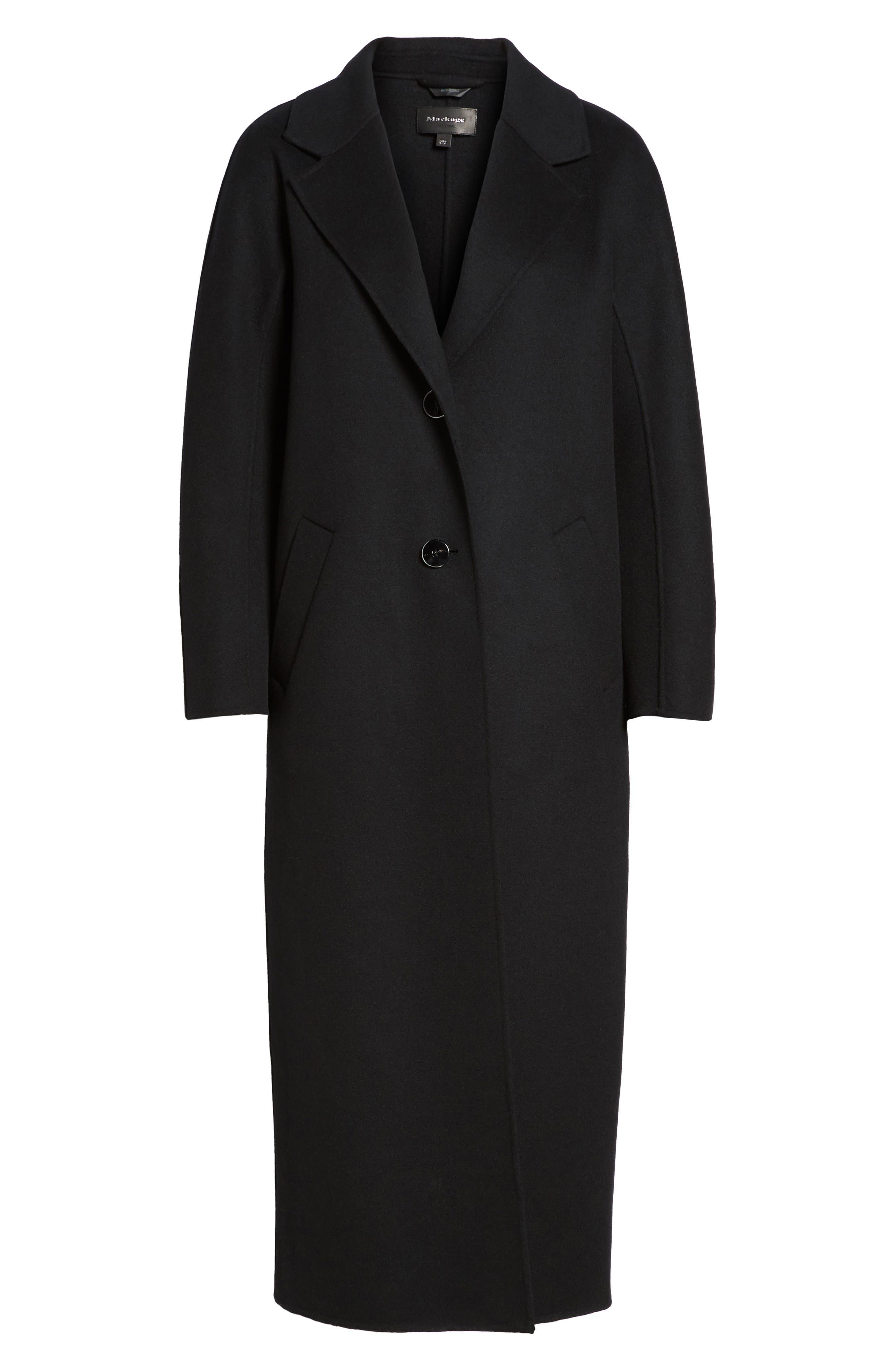 Adriana Wool Reefer Coat,                             Alternate thumbnail 5, color,                             001