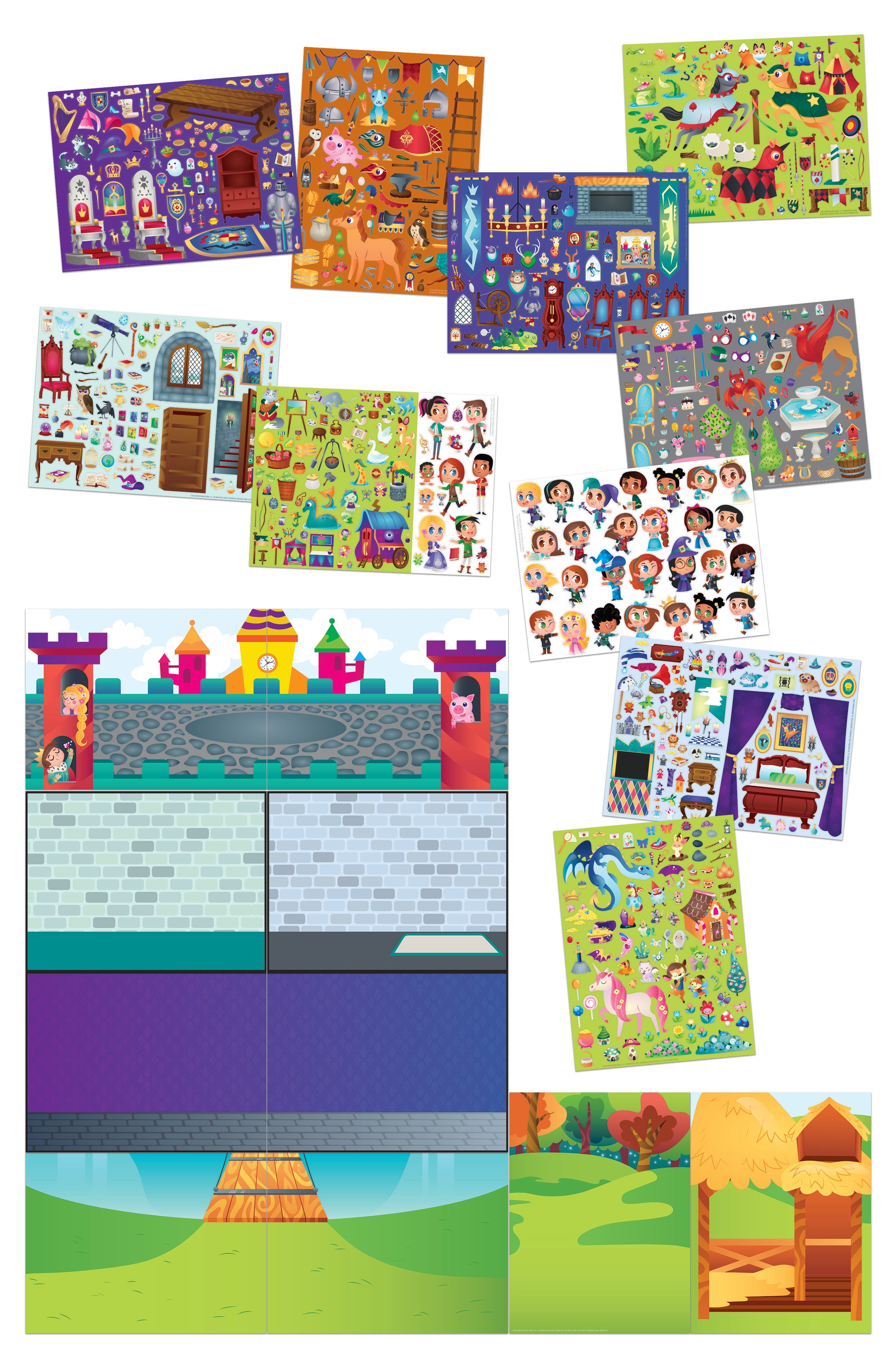 Jr. Wall Sticker Castle Set,                             Alternate thumbnail 3, color,                             960