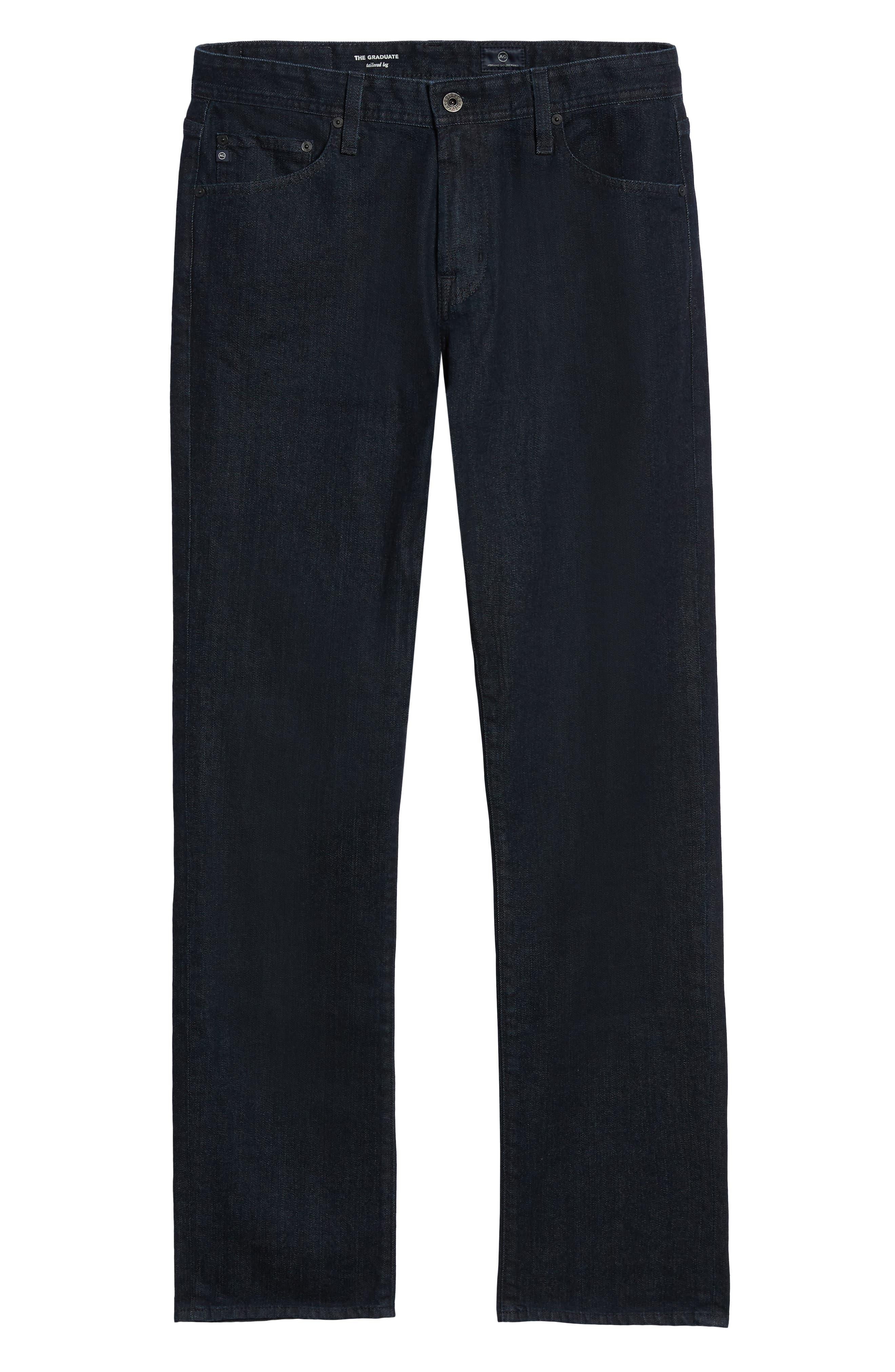 Graduate Slim Straight Leg Jeans,                             Alternate thumbnail 6, color,                             STELLAR