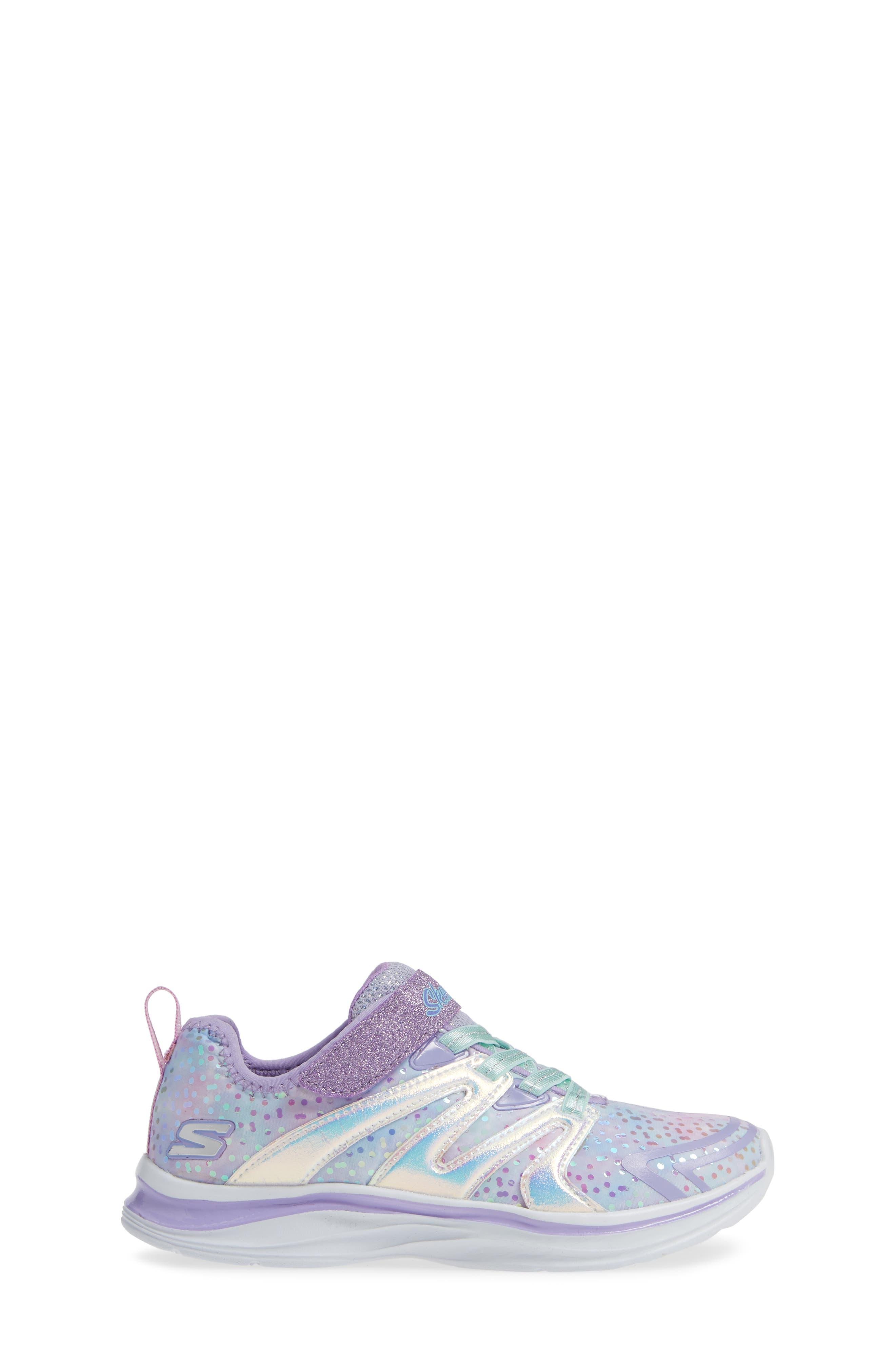 Double Dreams Shimmer Sneaker,                             Alternate thumbnail 3, color,                             LAVENDER/ MULTI
