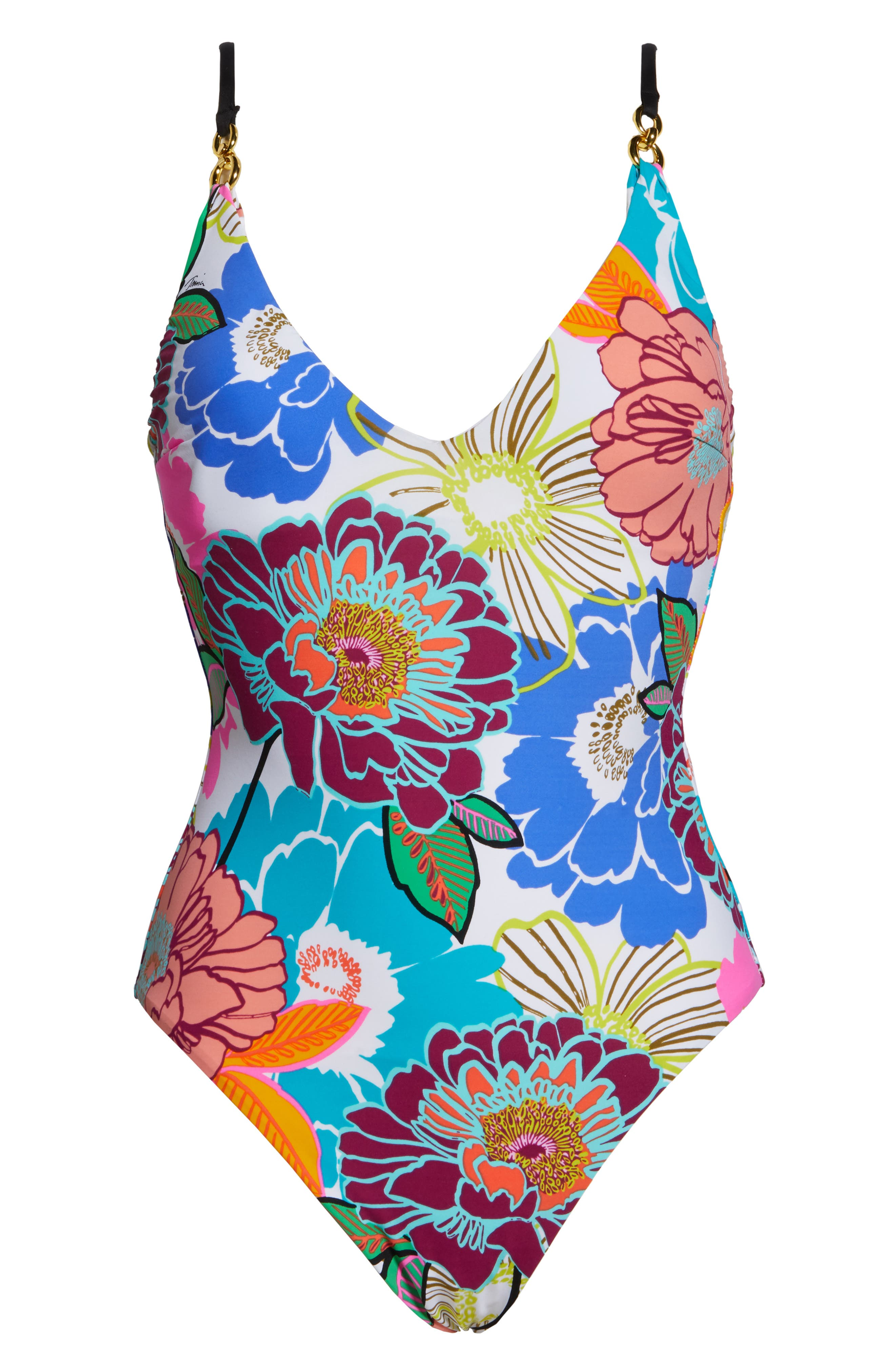 Floral One-Piece Swimsuit,                             Alternate thumbnail 6, color,                             BURGUNDY MULTI