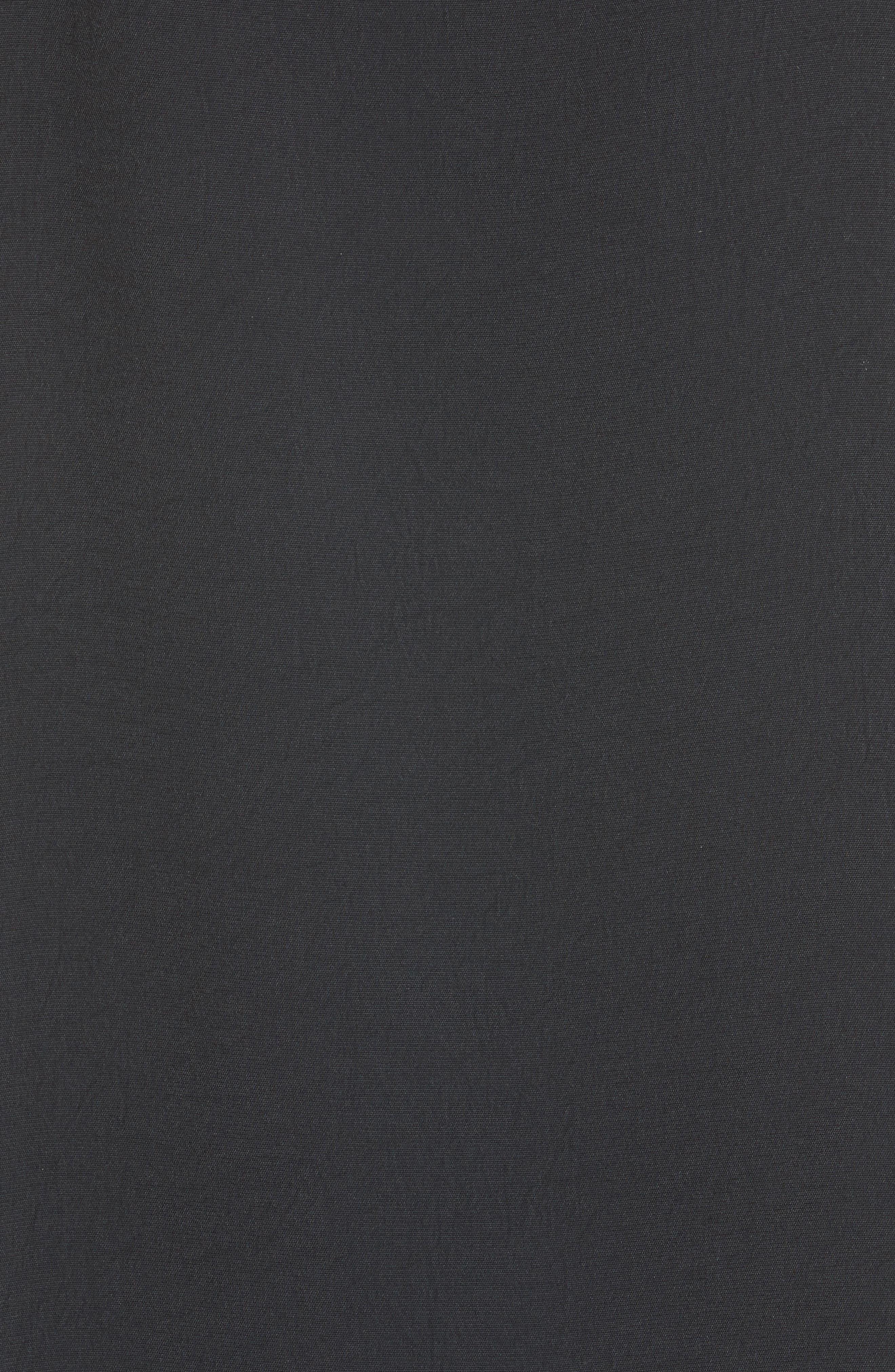 Cold Shoulder Suspender Shift Dress,                             Alternate thumbnail 5, color,                             001