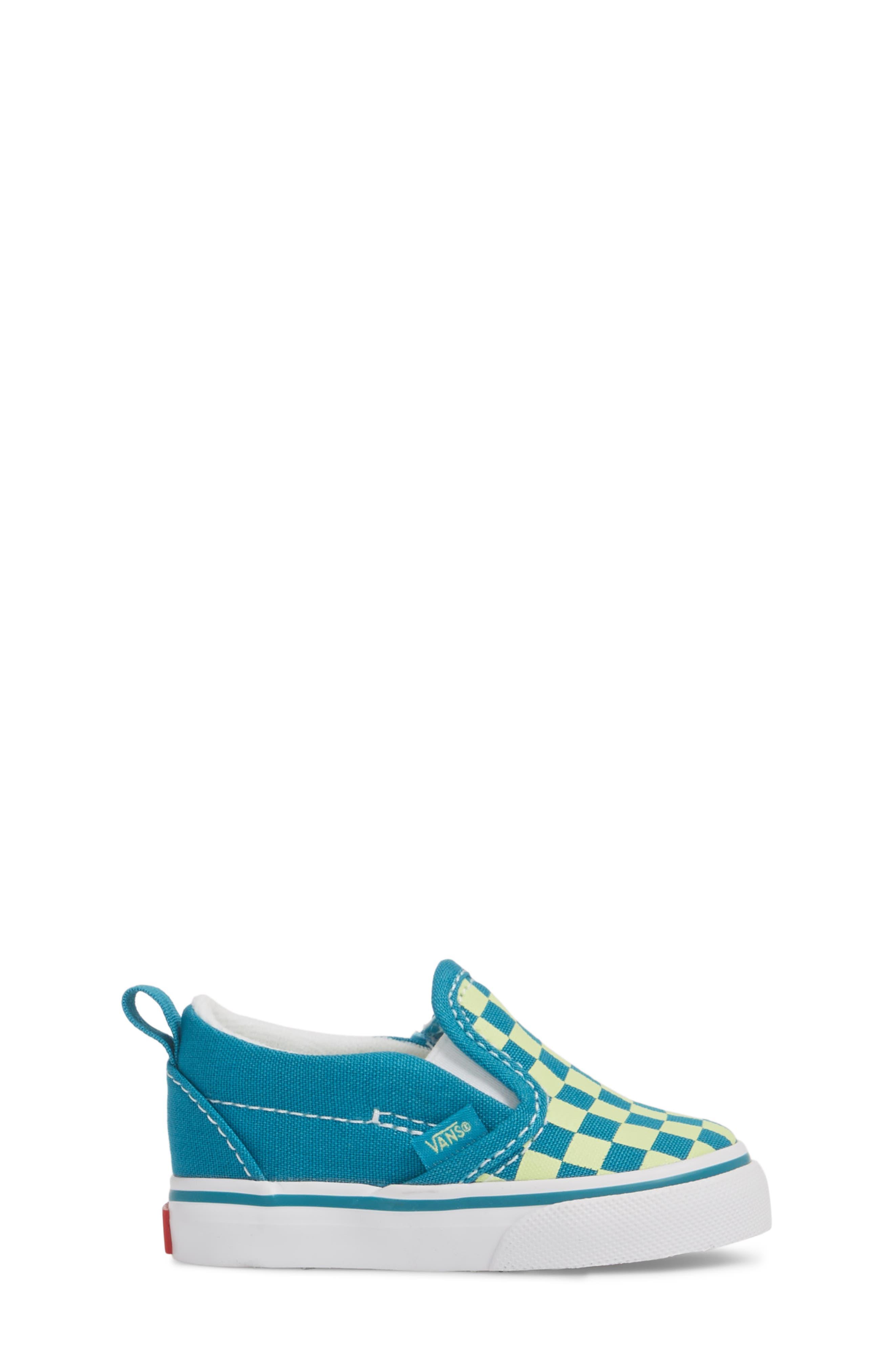 Slip-On Crib Shoe,                             Alternate thumbnail 3, color,                             ENAMEL BLUE/ SHARP GREEN