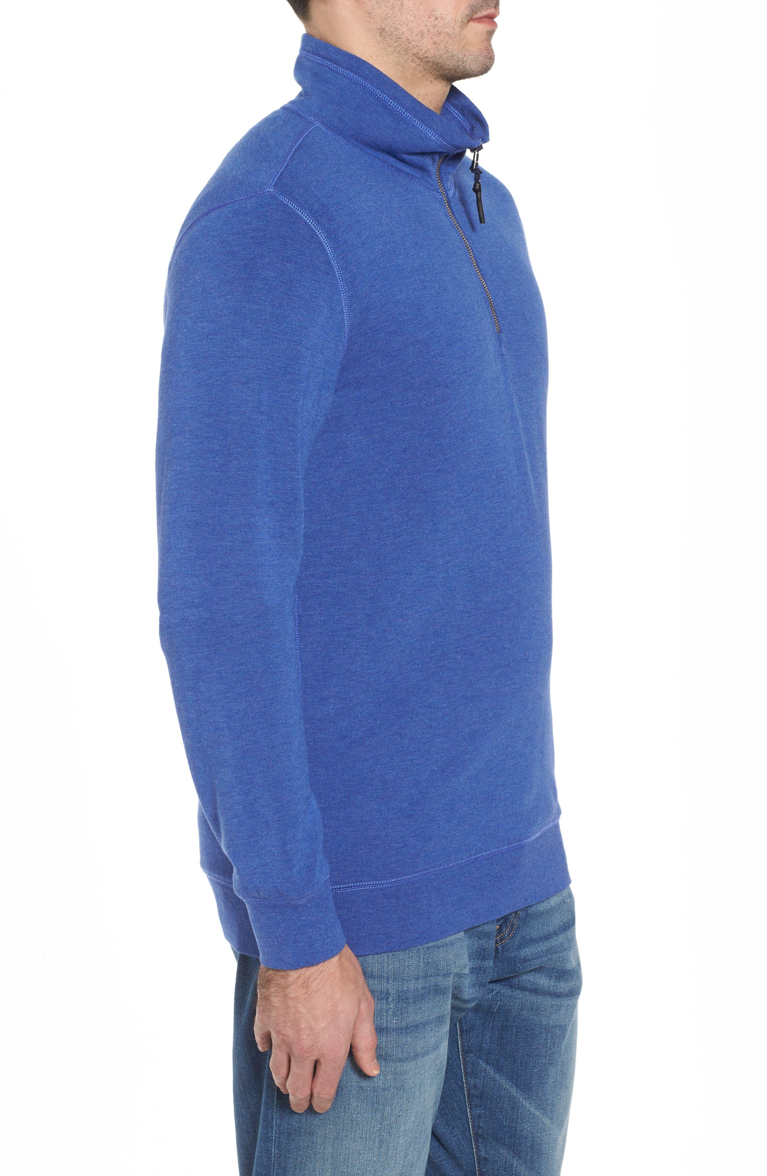 Brushback Quarter Zip Pullover,                             Alternate thumbnail 8, color,