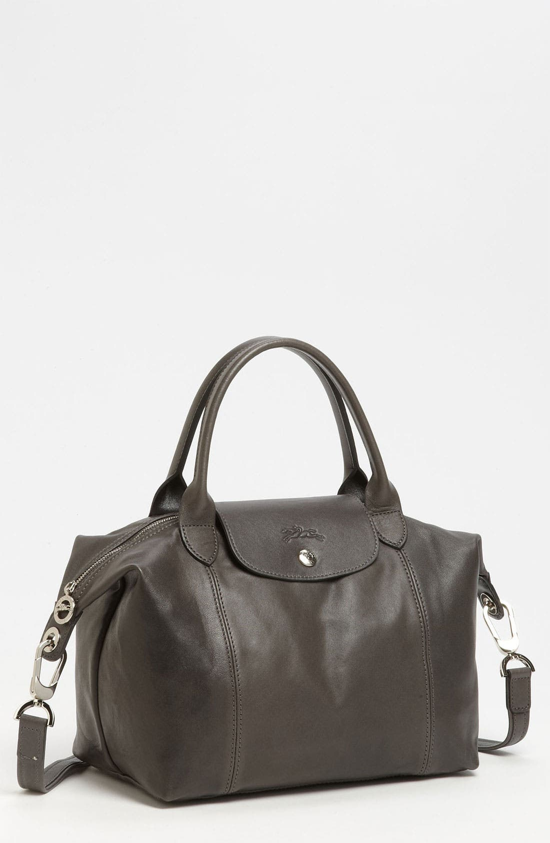 Small 'Le Pliage Cuir' Leather Top Handle Tote,                             Main thumbnail 5, color,
