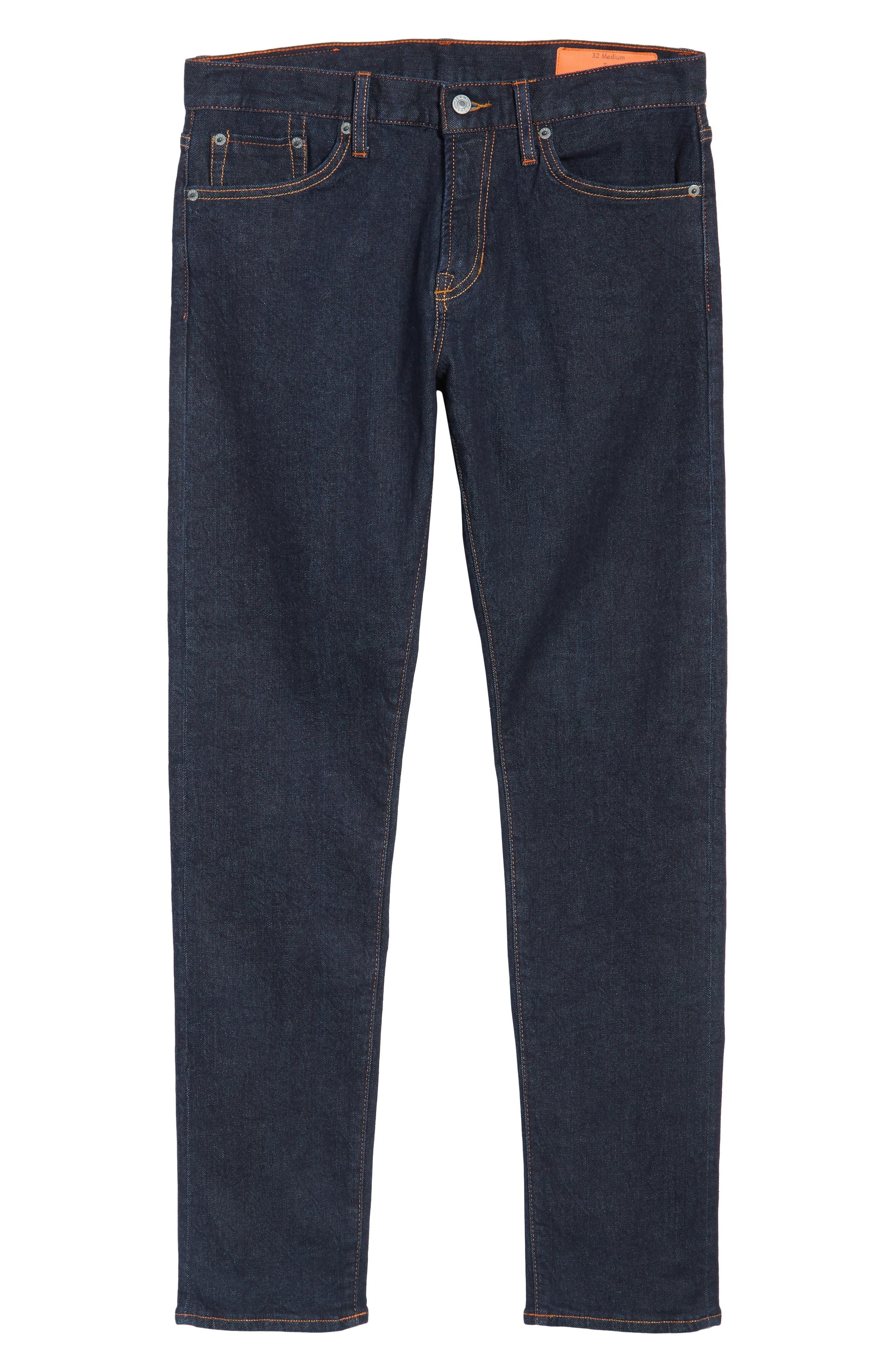 Jim Slim Fit Selvedge Jeans,                             Alternate thumbnail 6, color,                             460
