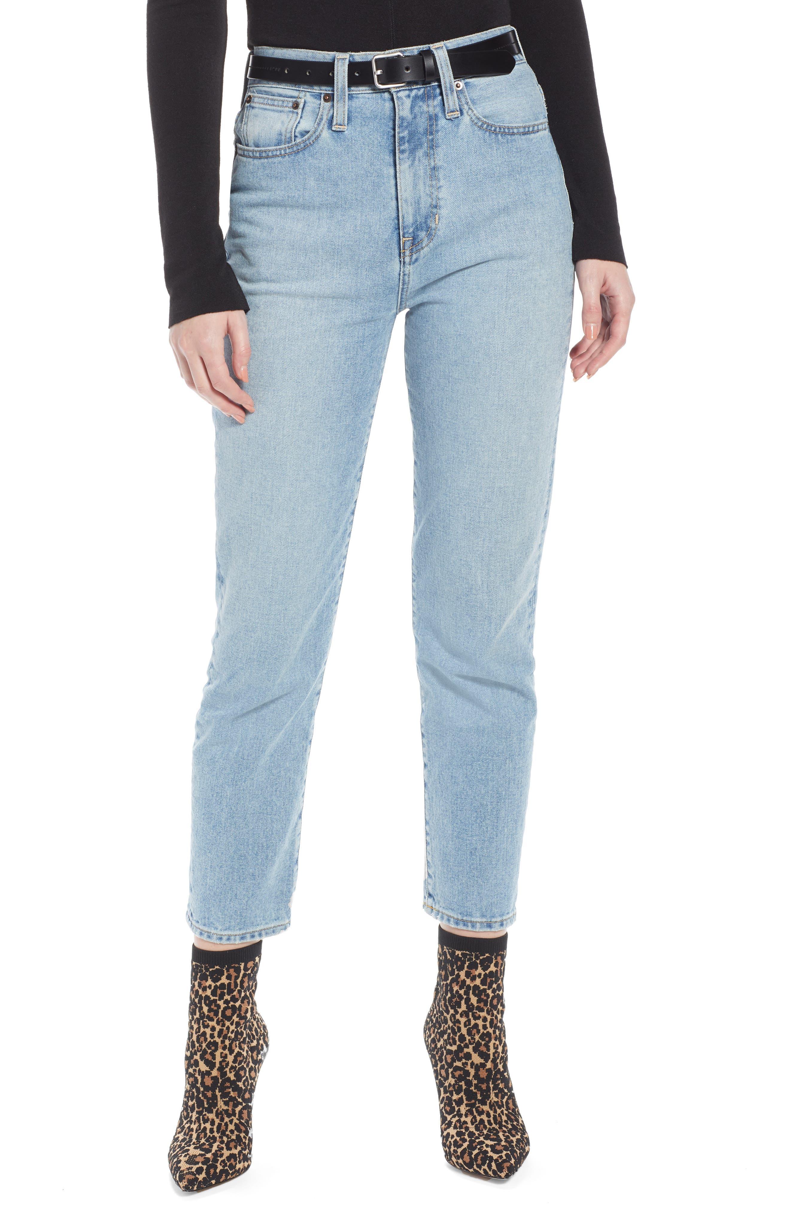 Ankle Cigarette Jeans, Main, color, 400