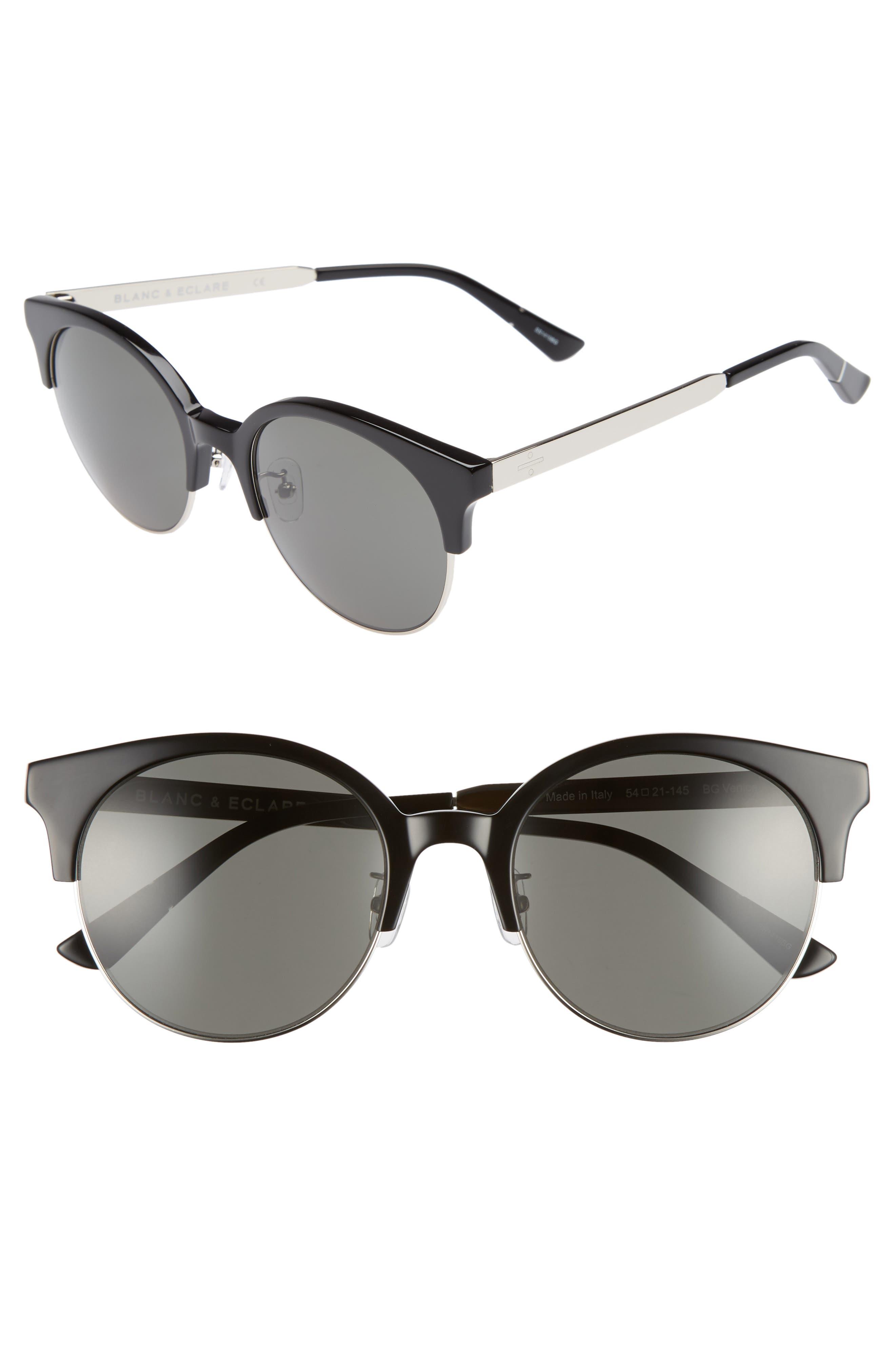 BLANC & ECLARE Venice Round Sunglasses,                             Main thumbnail 1, color,                             001