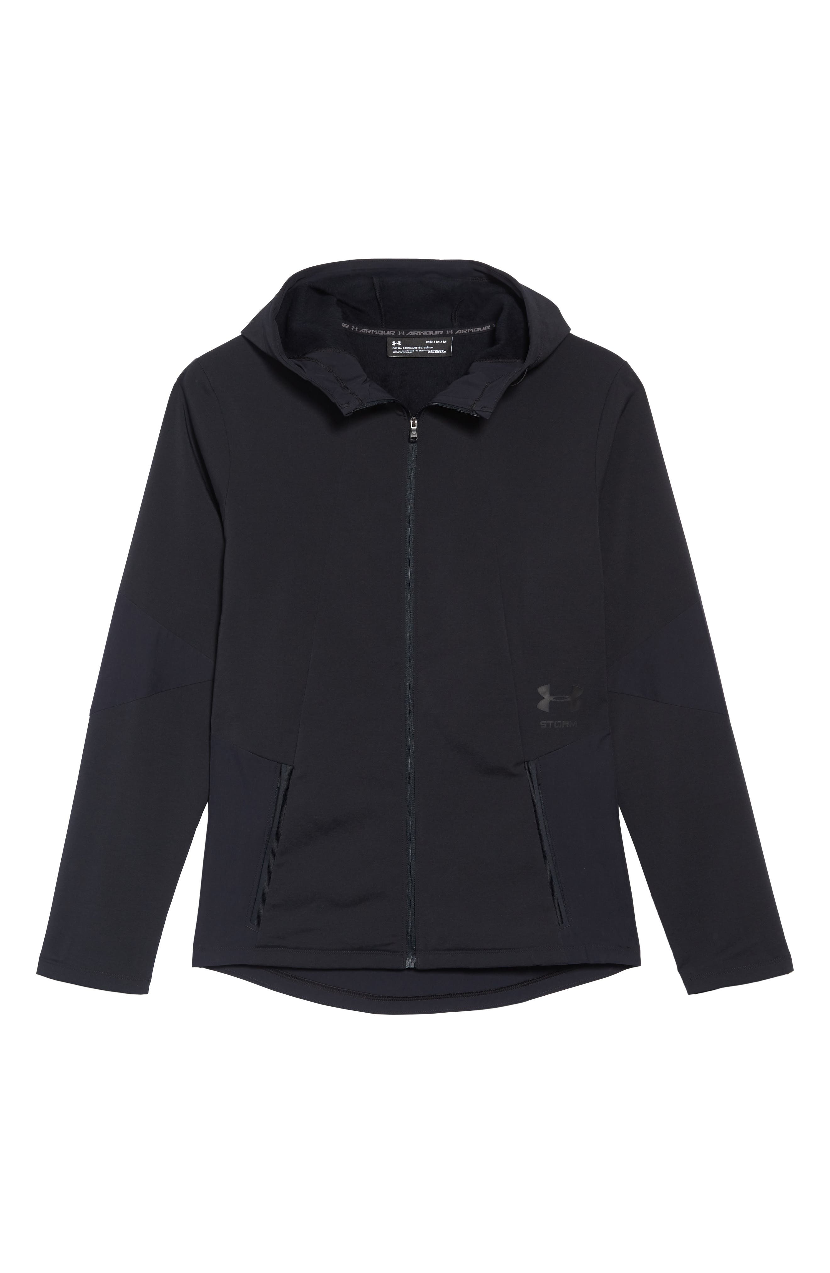 Under Armour Storm Cyclone Water Repellent Hooded Jacket, Black