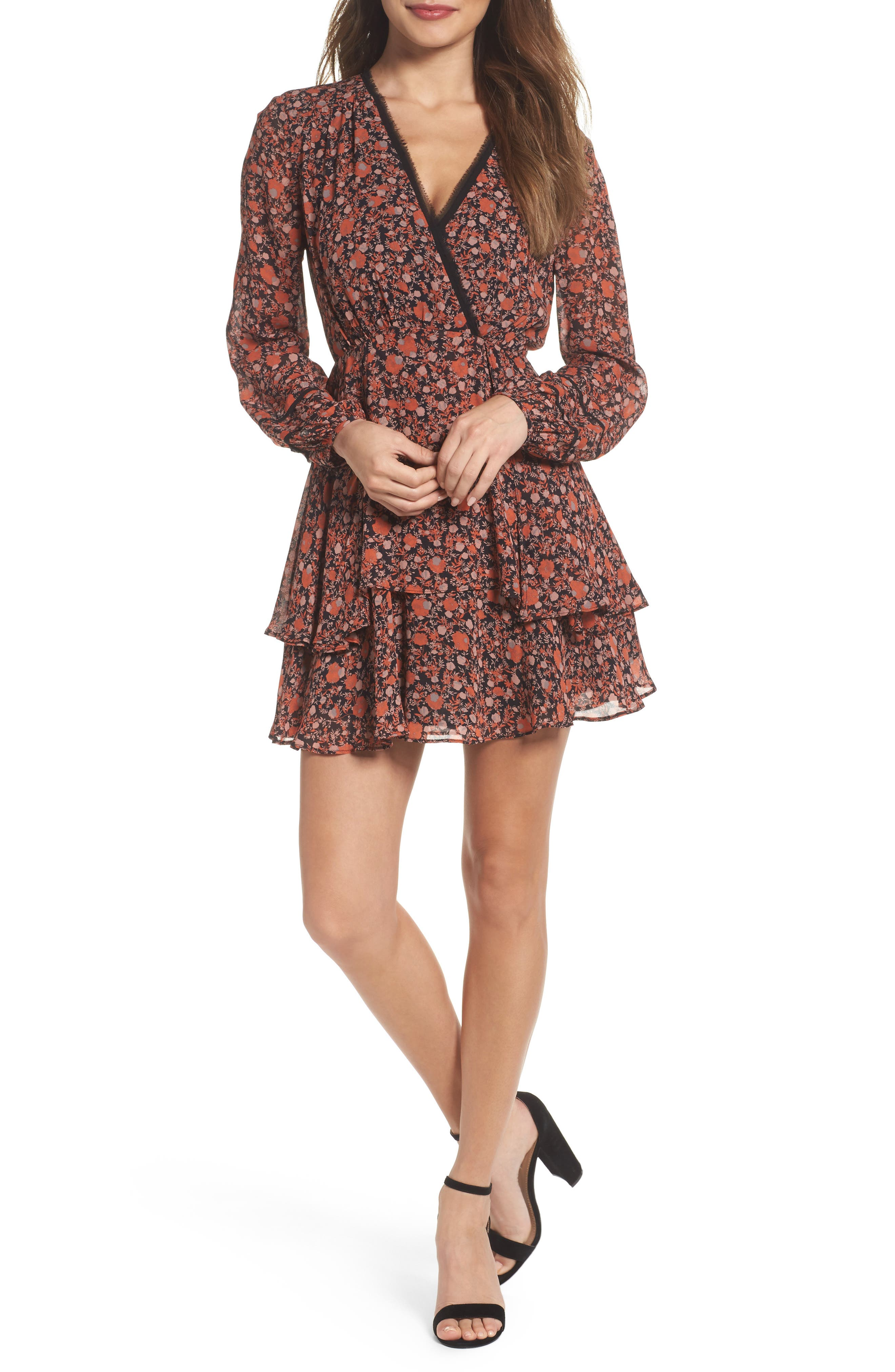 Haylie Fit & Flare Dress,                             Main thumbnail 1, color,                             201