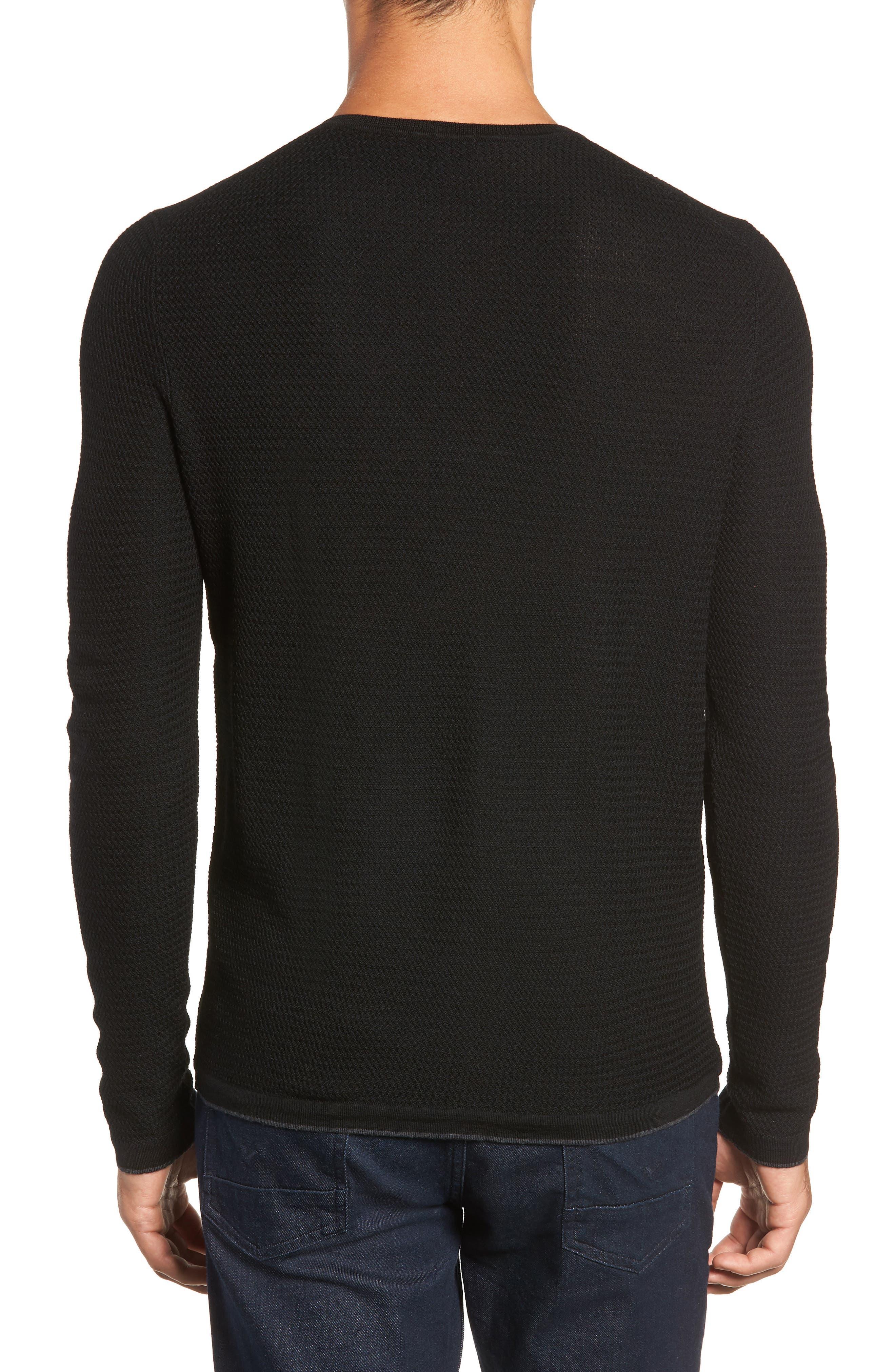 Hawthorn Wool Blend Thermal,                             Alternate thumbnail 2, color,                             BLACK