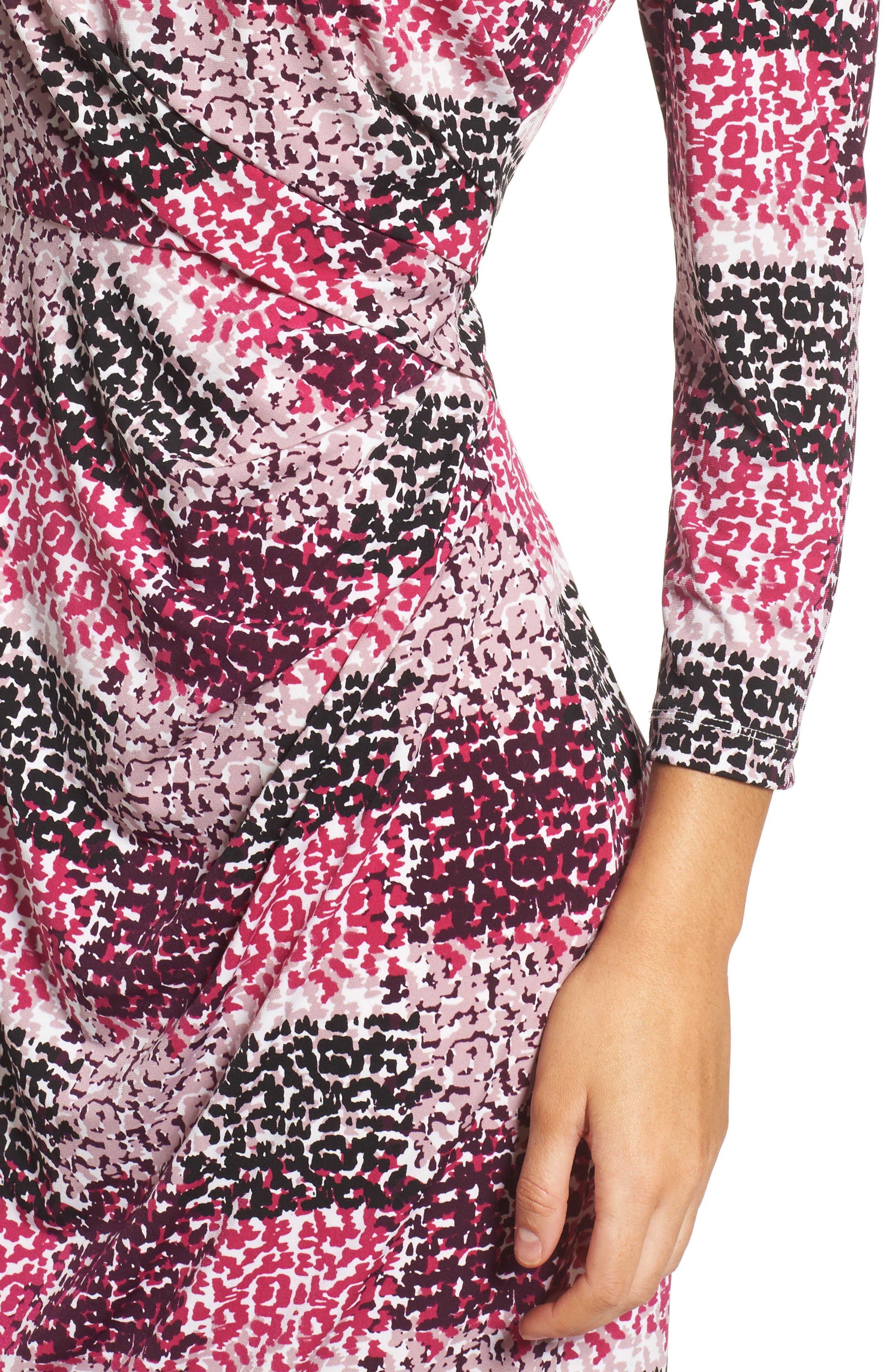 Jersey Sheath Dress,                             Alternate thumbnail 4, color,                             405