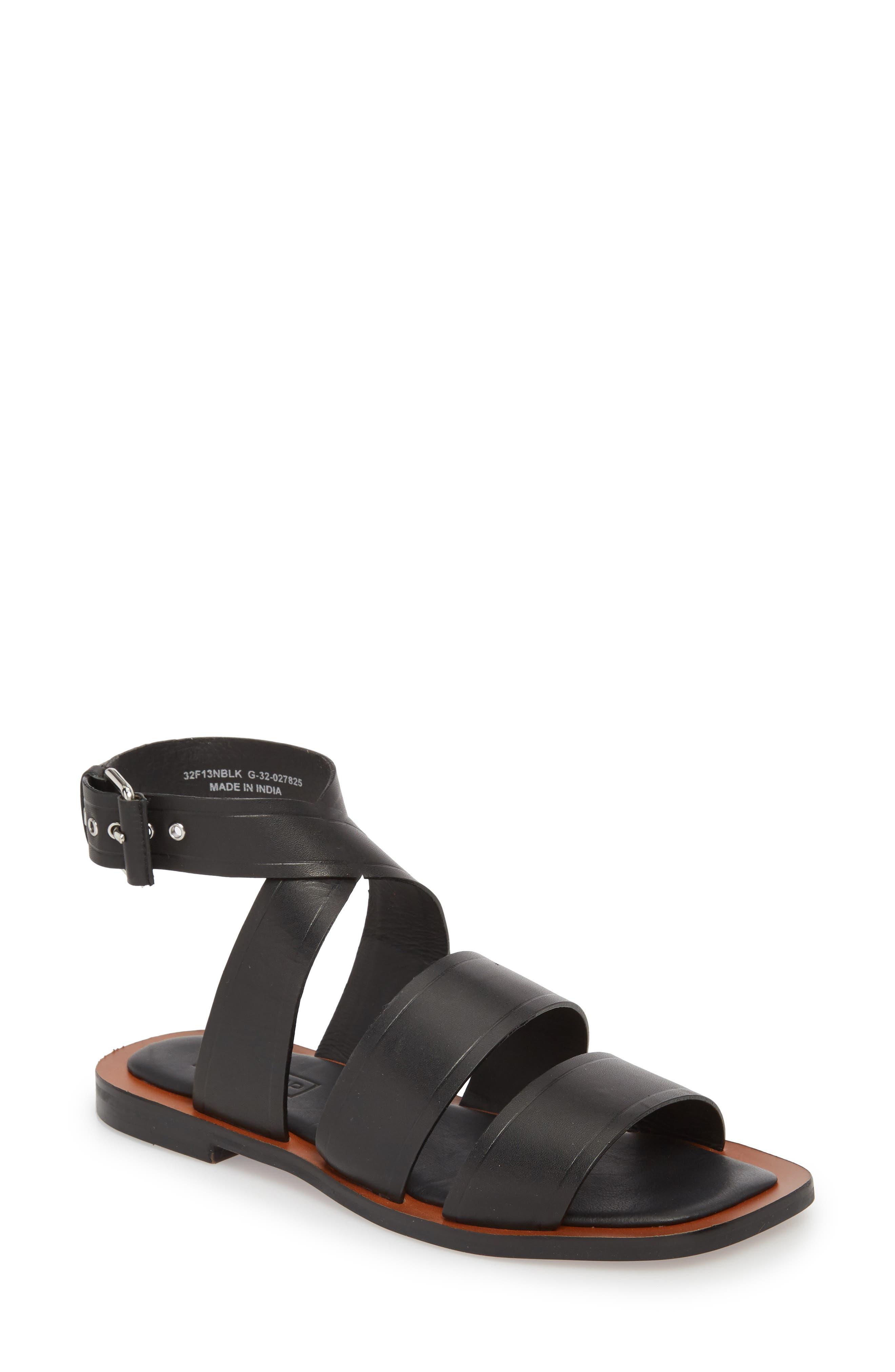 Fume Strappy Sandal,                         Main,                         color, 001