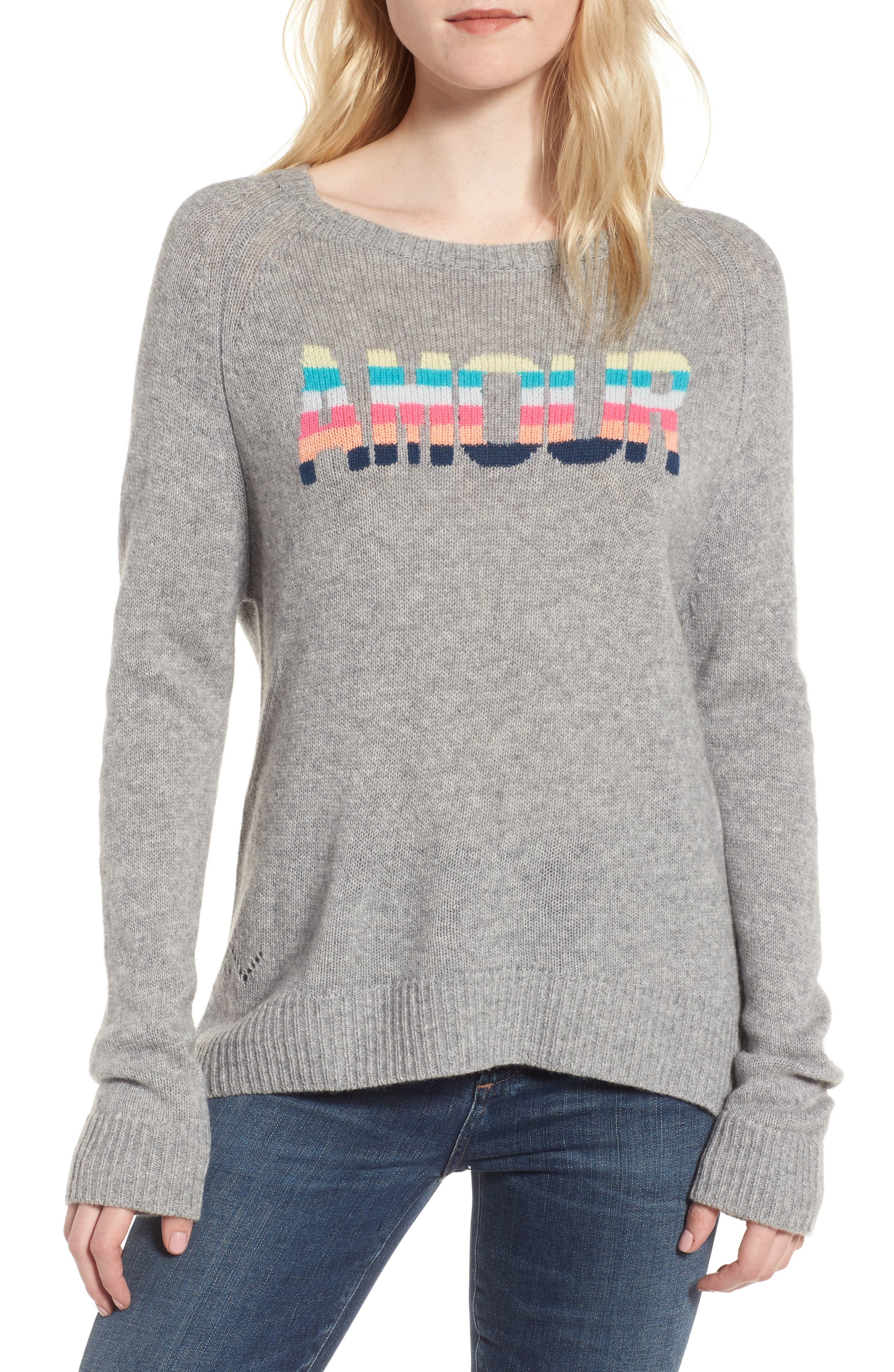 Baly Bis Cashmere Sweater,                             Main thumbnail 1, color,                             078