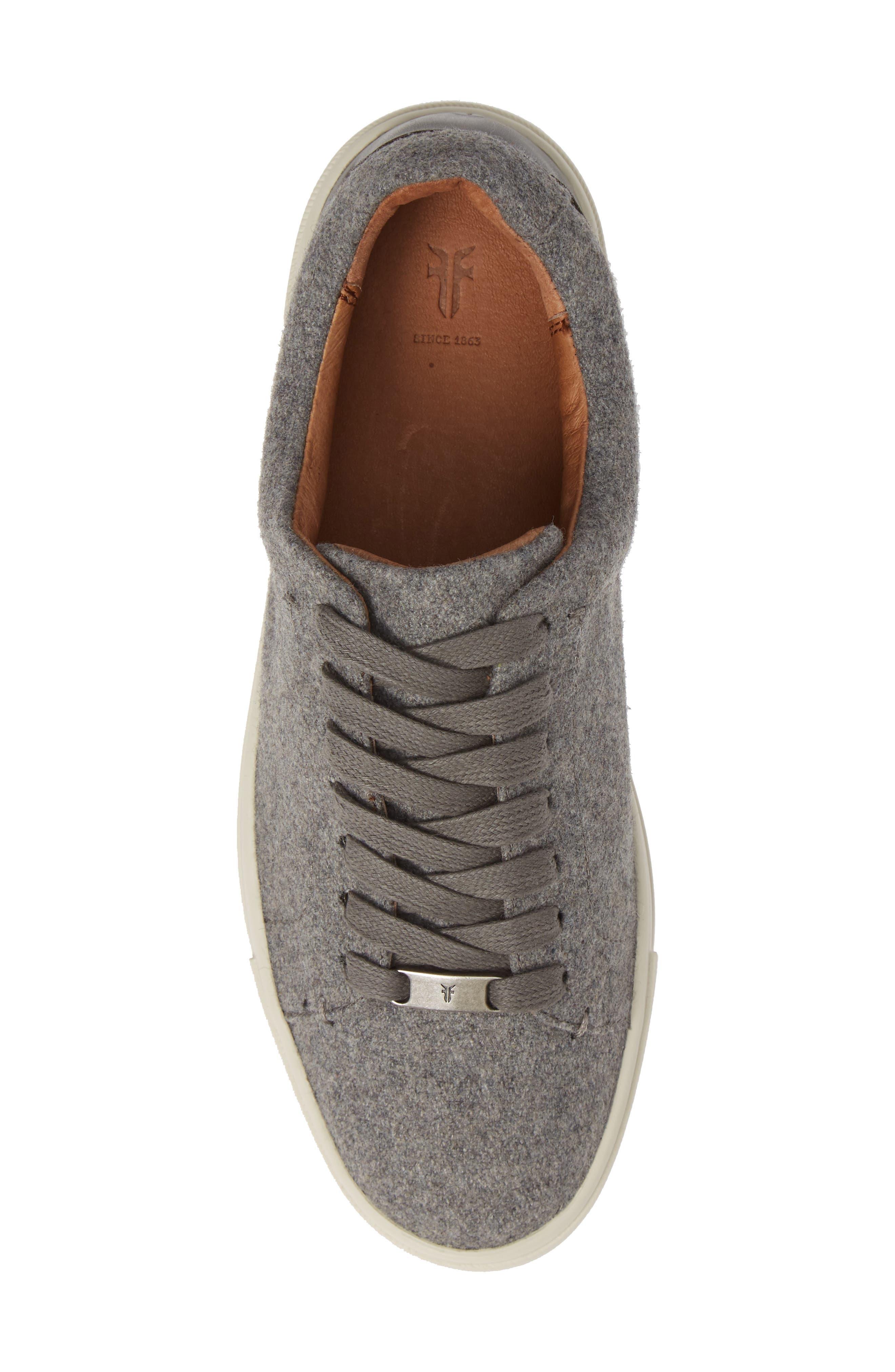 Ivy Sneaker,                             Alternate thumbnail 5, color,                             GREY WOOL FABRIC