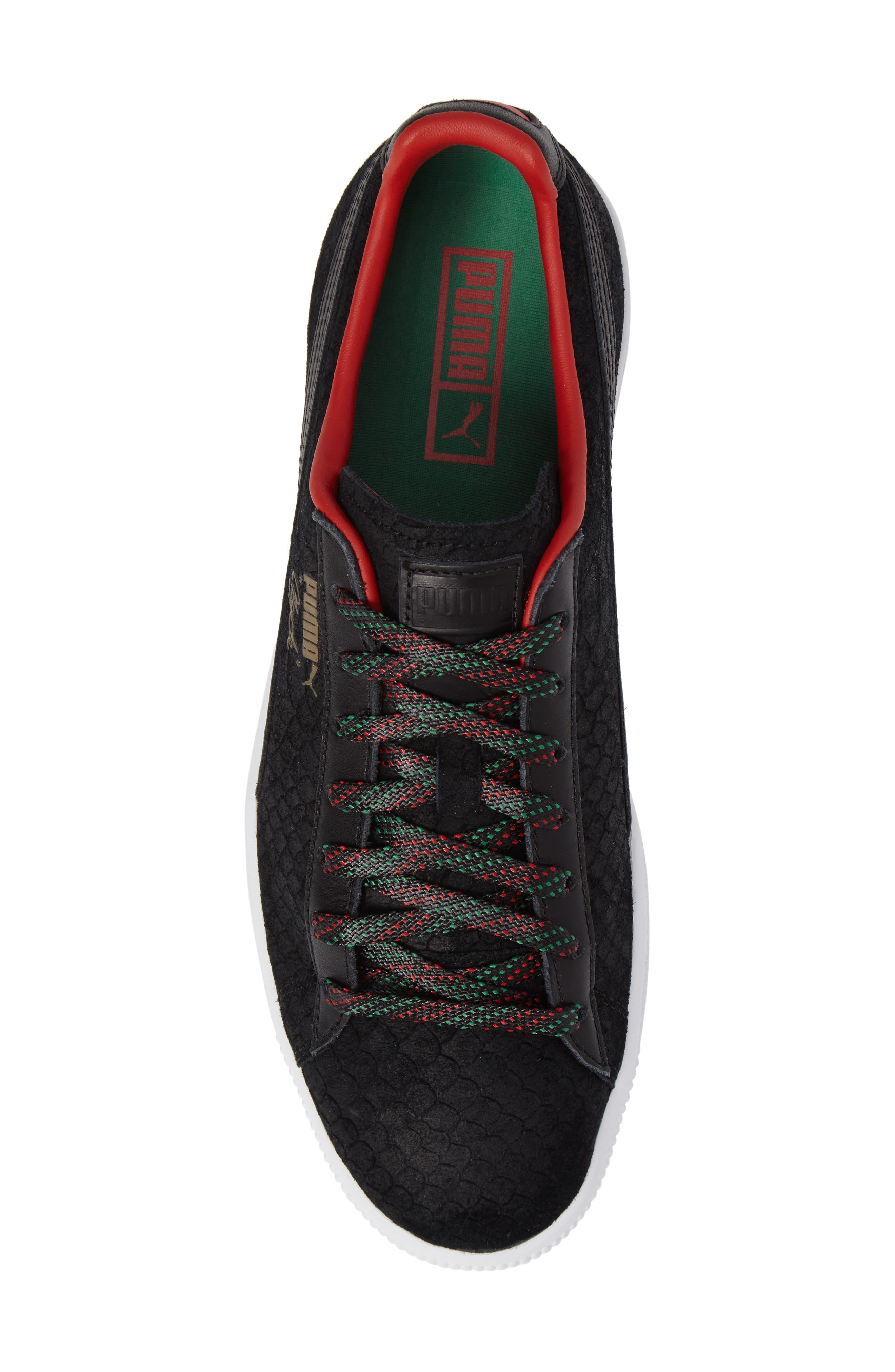 Clyde GCC Sneaker,                             Alternate thumbnail 5, color,                             001
