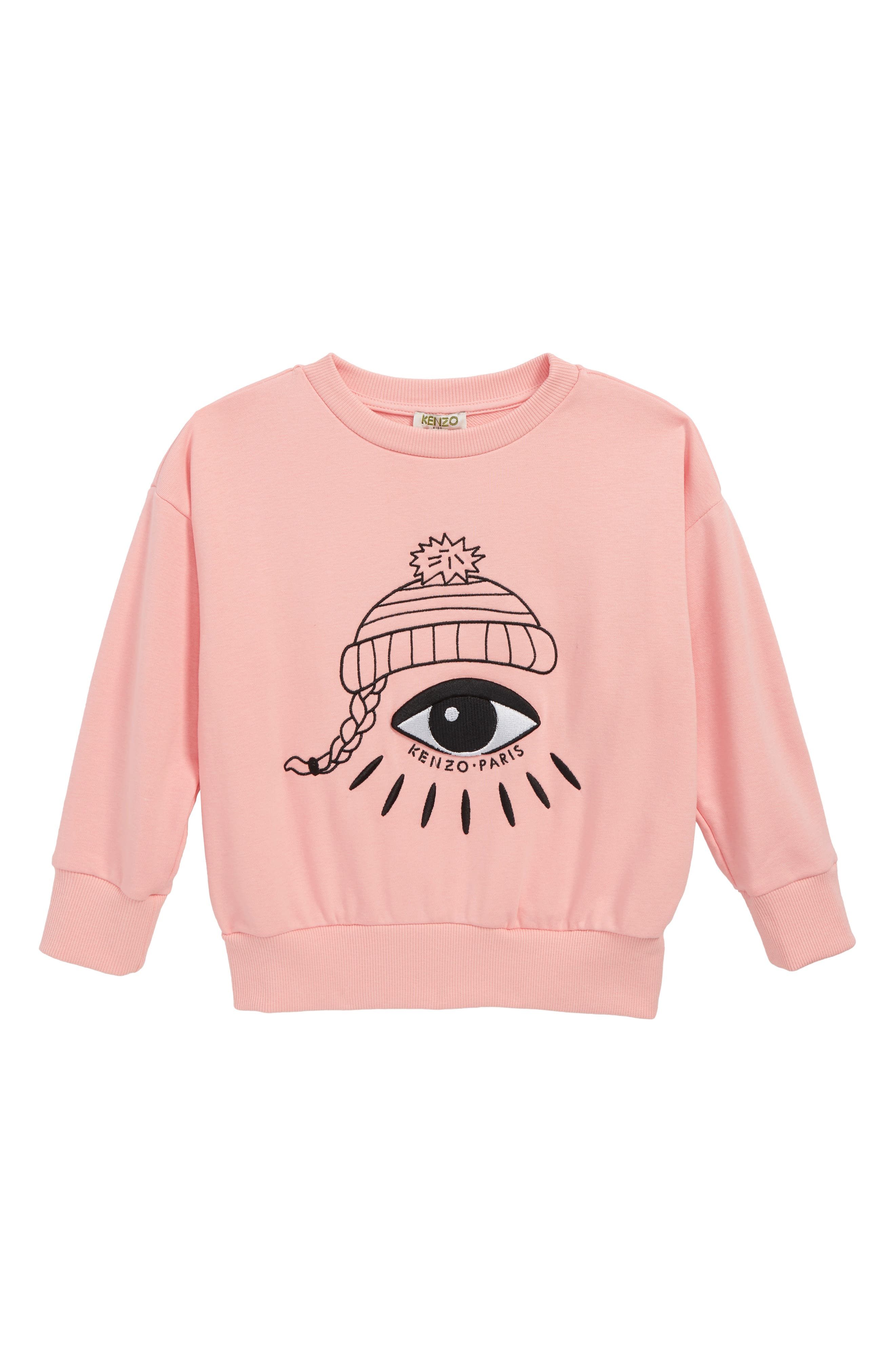 Eye Sweater,                             Main thumbnail 1, color,                             MIDDLE PINK