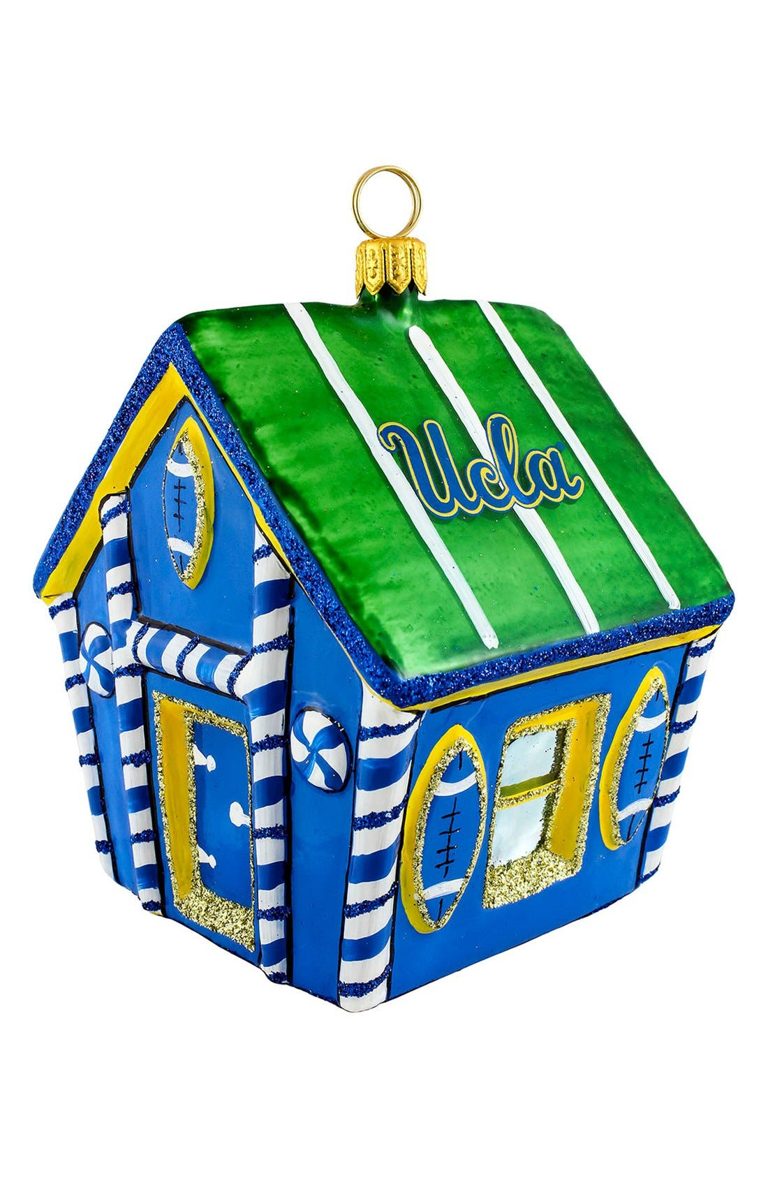'Collegiate Gingerbread House' Ornament,                             Main thumbnail 1, color,                             UCLA