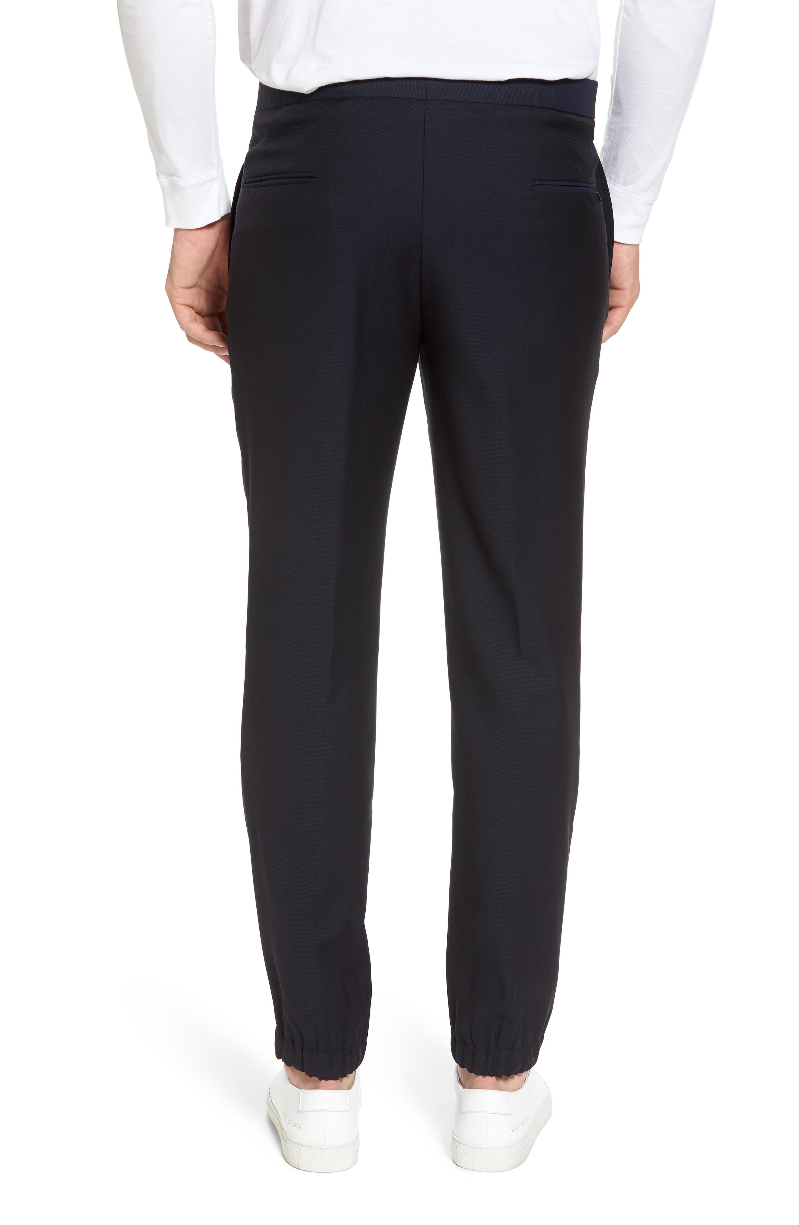 Hybrid Jogger Flat Front Wool Trousers,                             Alternate thumbnail 2, color,
