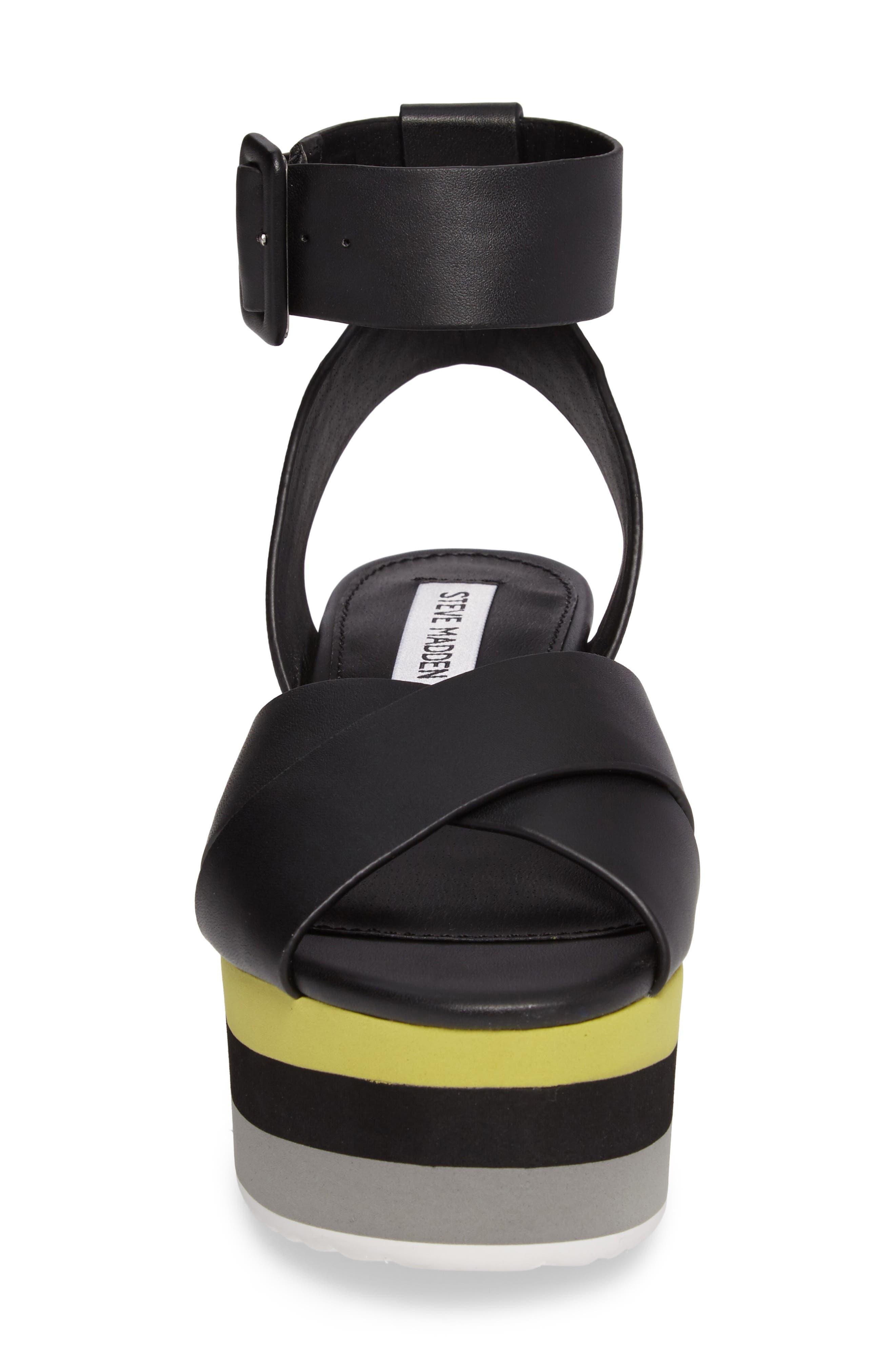 Macer Cuffed Platform Sandal,                             Alternate thumbnail 4, color,                             015