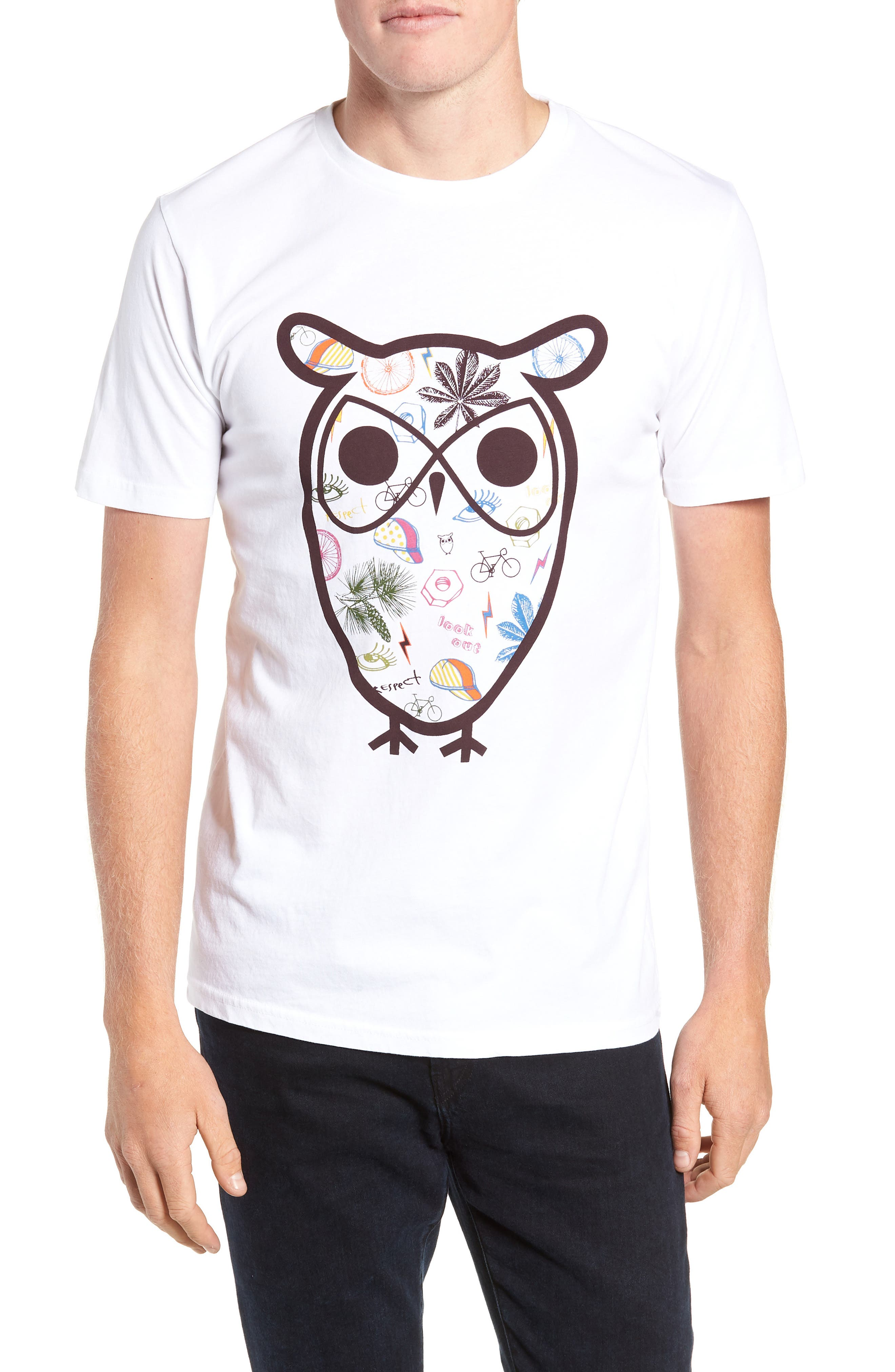 Owl Concept T-Shirt,                         Main,                         color, WHITE
