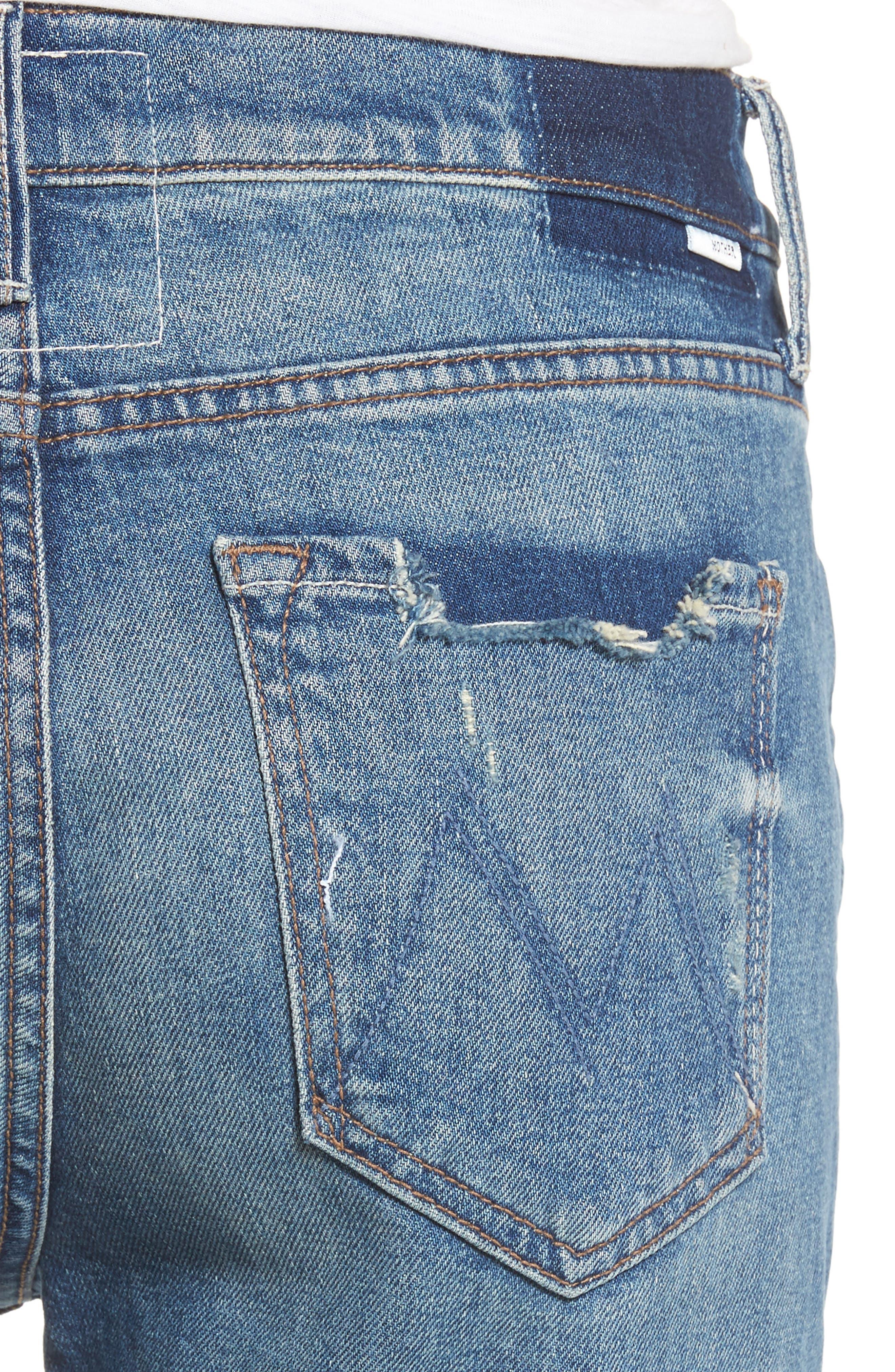 The Dutchie Crop Straight Leg Jeans,                             Alternate thumbnail 4, color,                             413
