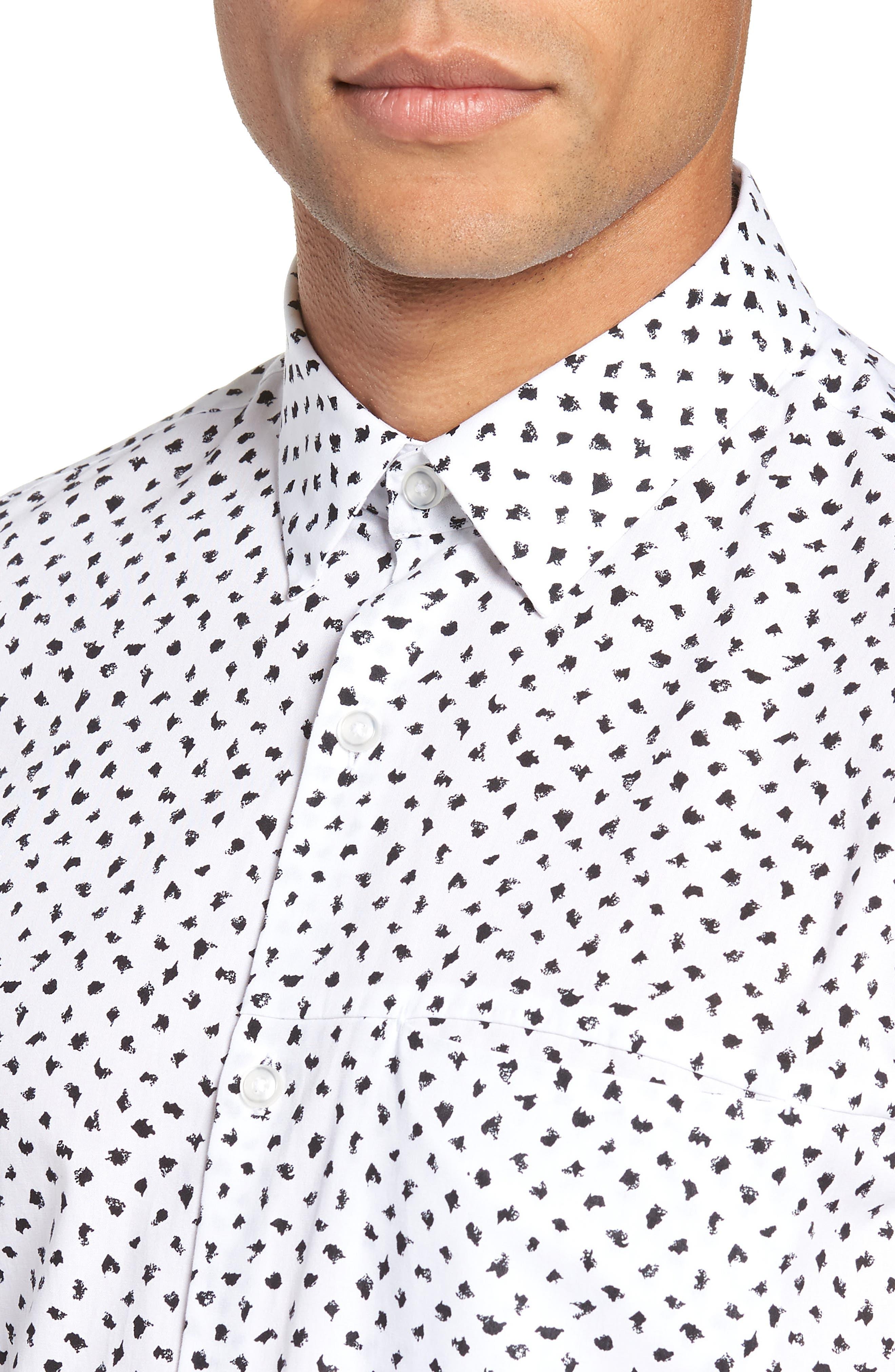 Non-Iron Print Sport Shirt,                             Alternate thumbnail 2, color,                             050